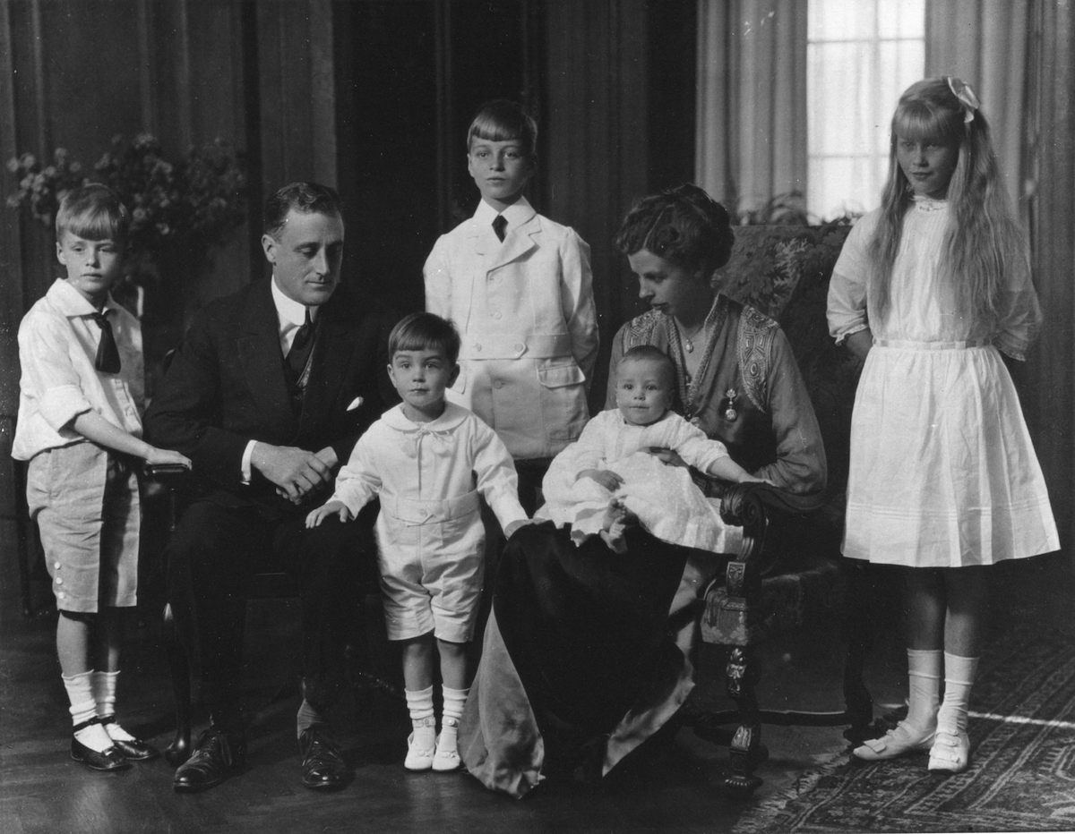 Franklin D. Roosevelt and family at home during the time FDR was Secretary of the Navy.