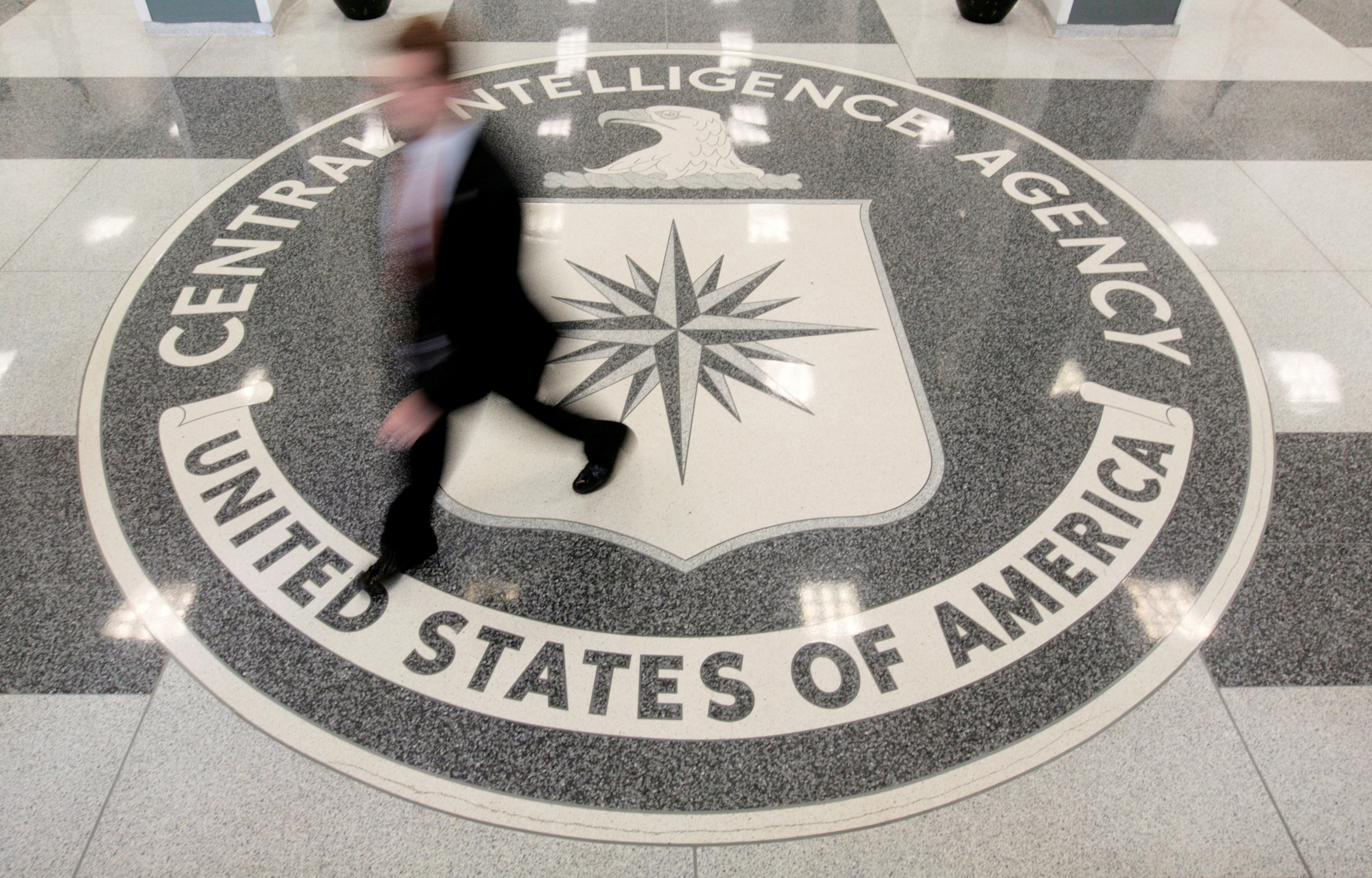 The lobby of the CIA Headquarters Building in Langley, Virginia on Aug. 14, 2008.