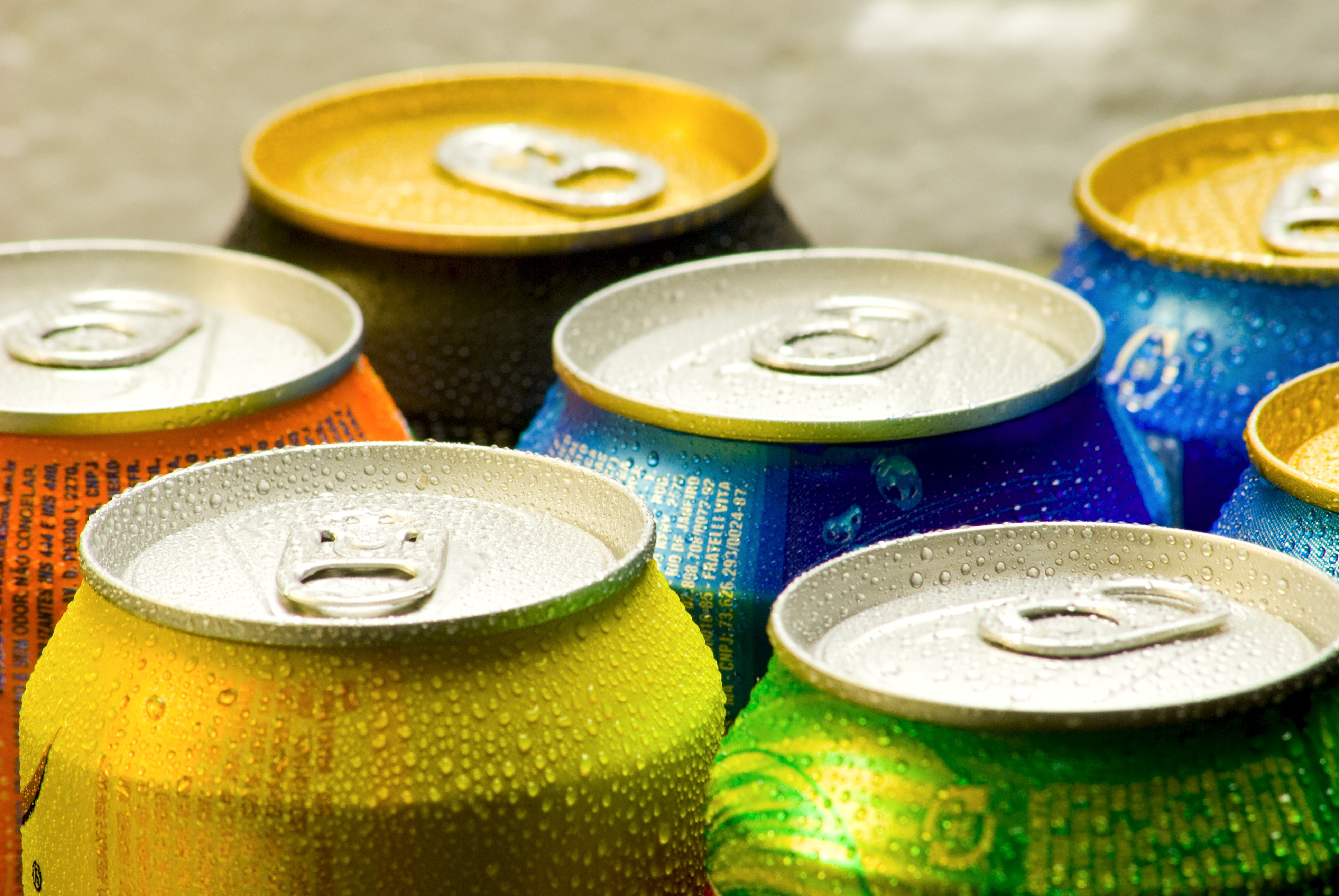 Picture of cans of soft drink.