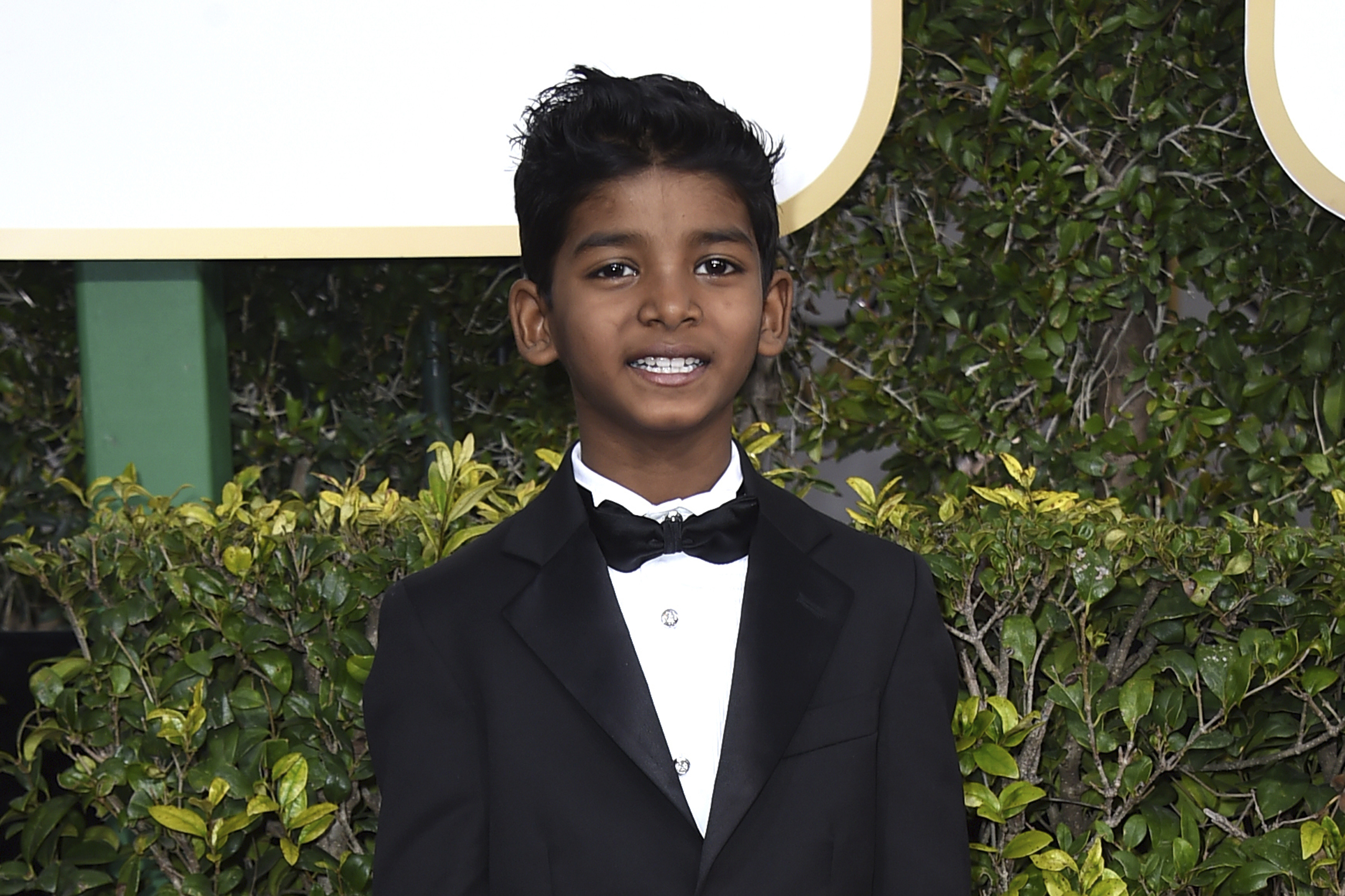 Sunny Pawar arrives at the 74th annual Golden Globe Awards at the Beverly Hilton Hotel in Beverly Hills, Calif., on Jan. 8, 2017.