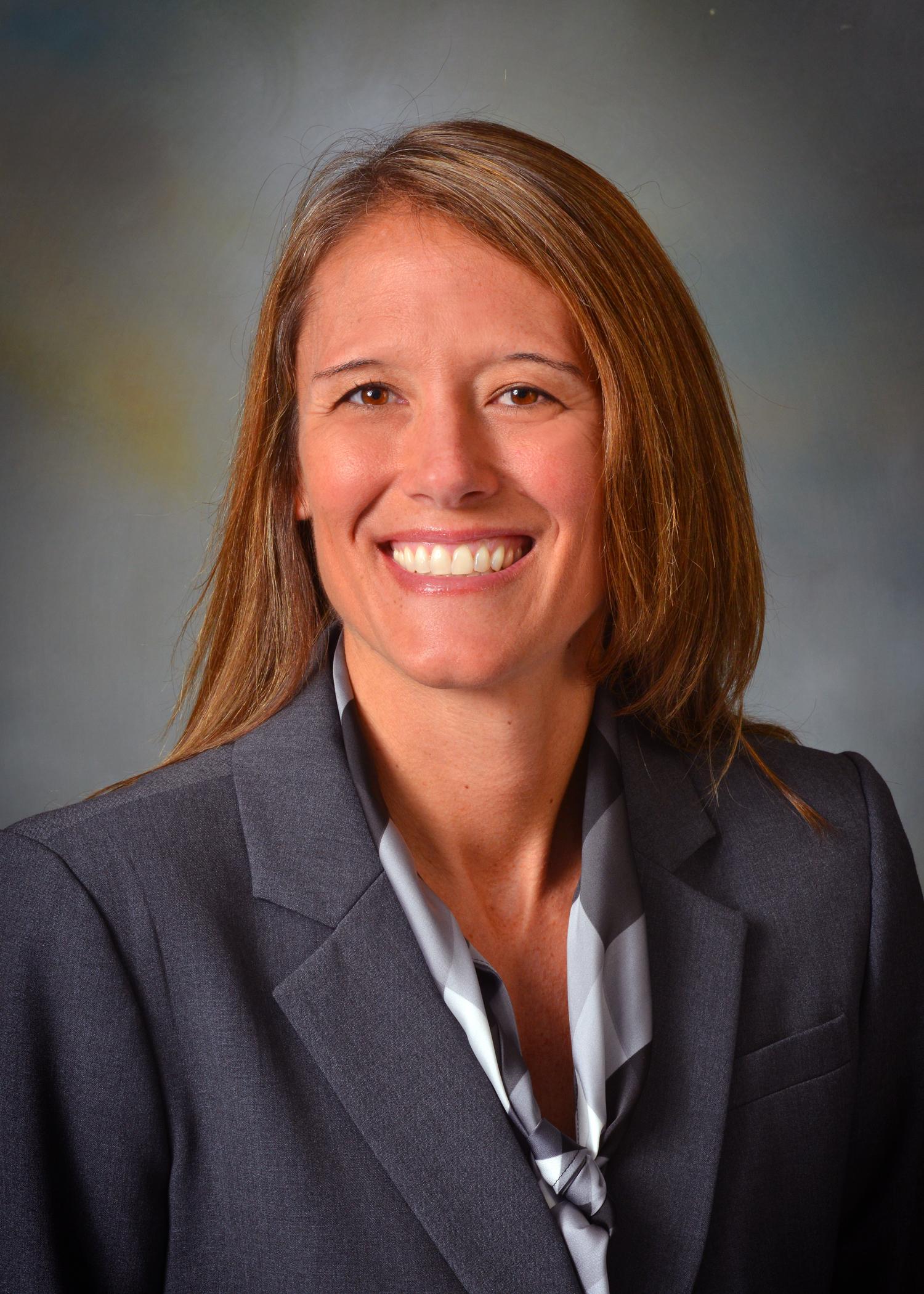 Terri Tchorzynski, a school counselor at Calhoun Area Career Center in Battle Creek, Mich.