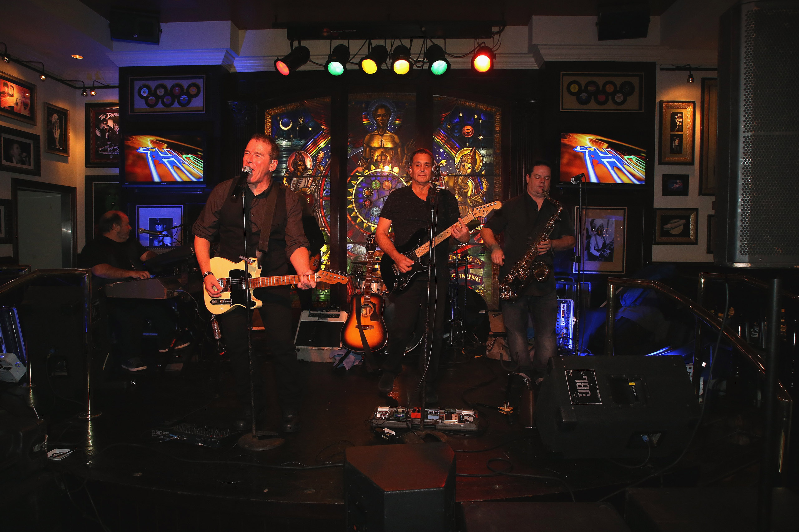 The B Street Band performs at the Hard Rock Cafe's 20th Anniversary bash in Atlantic City, NJ on Nov. 15, 2016.