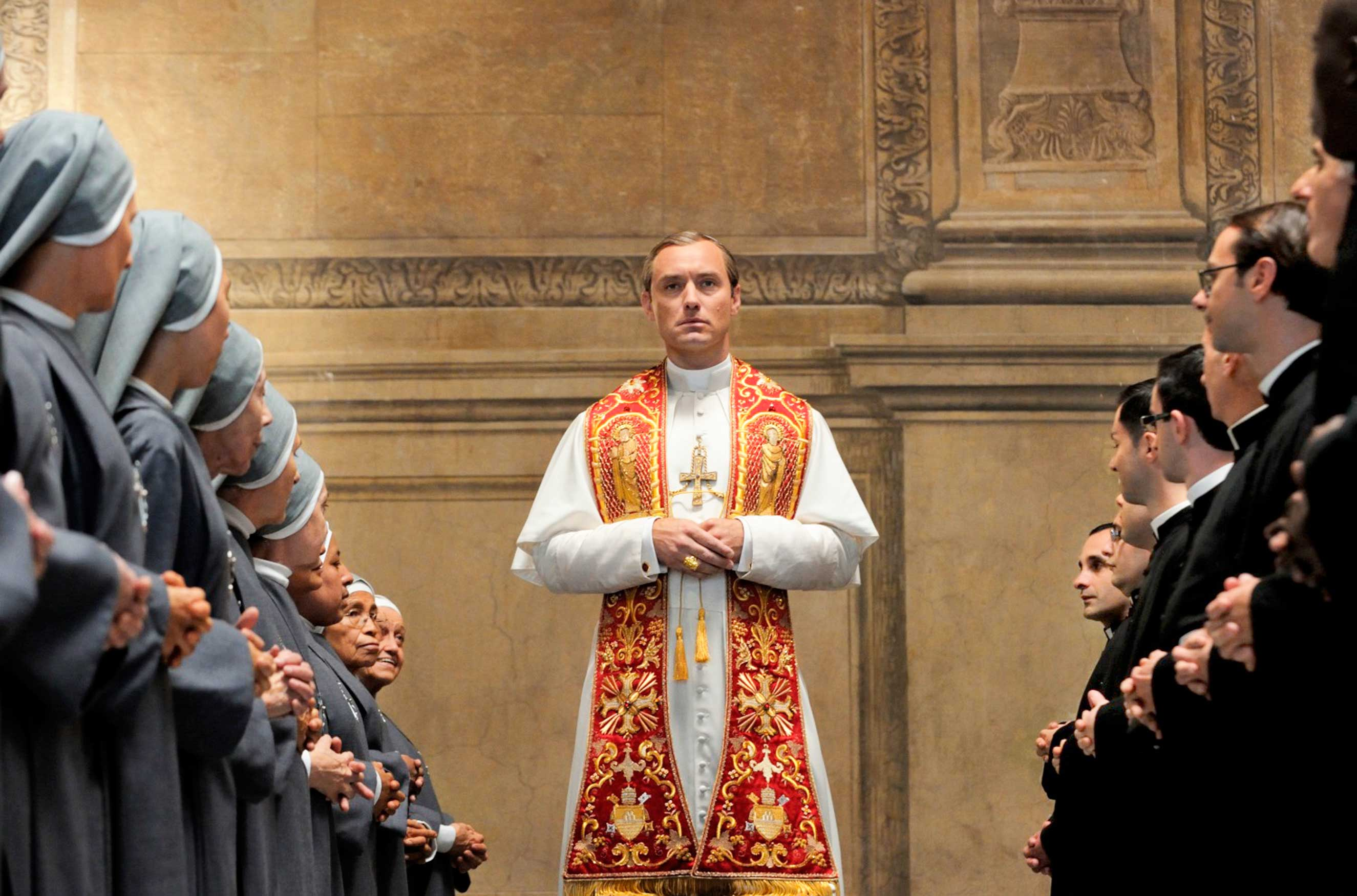 As Pope Pius XIII on HBO's The Young Pope, Jude Law.