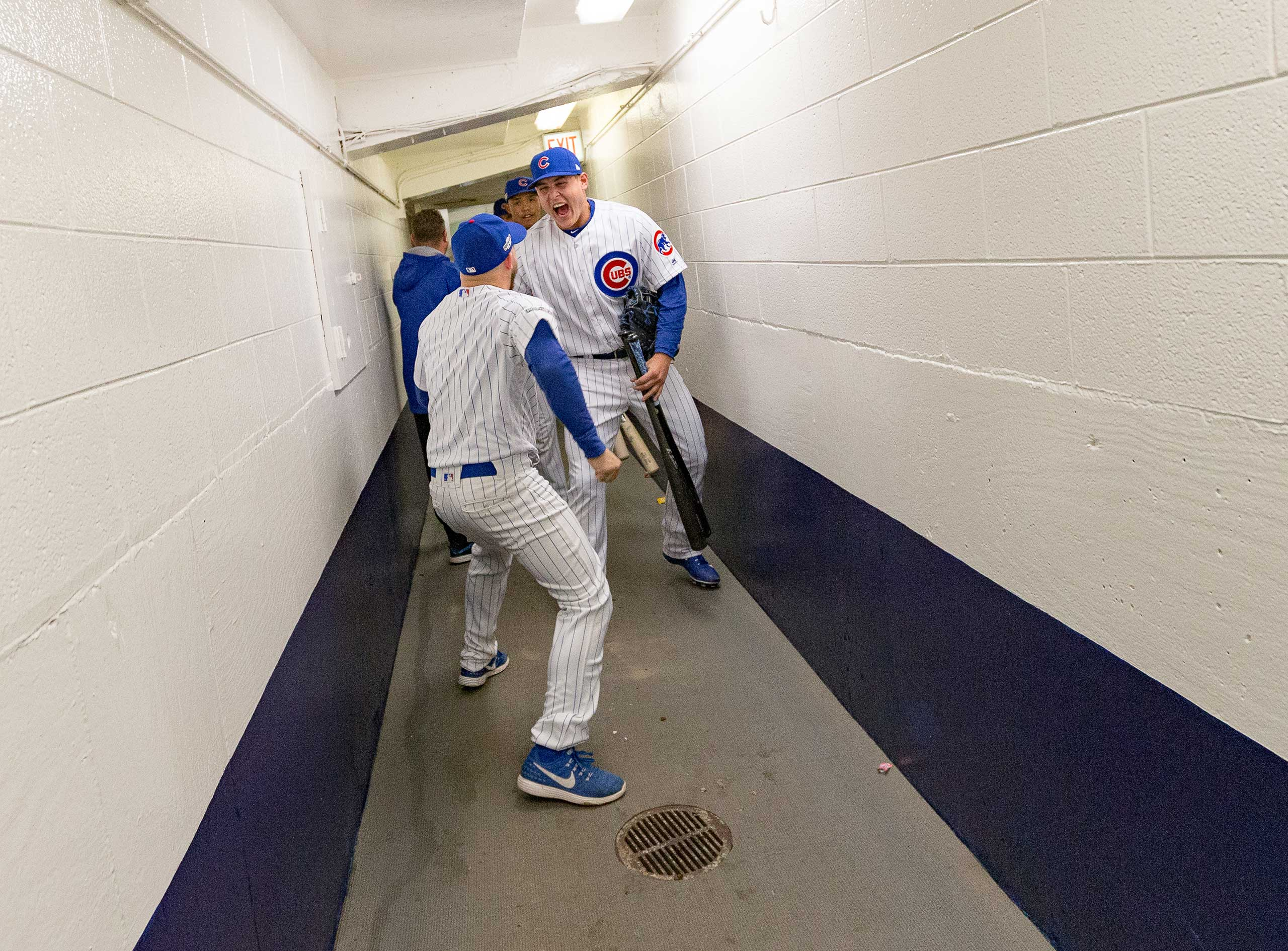 Cubs before Game 1 of the National League Division Series against the San Francisco Giants, Oct. 7, 2016.
