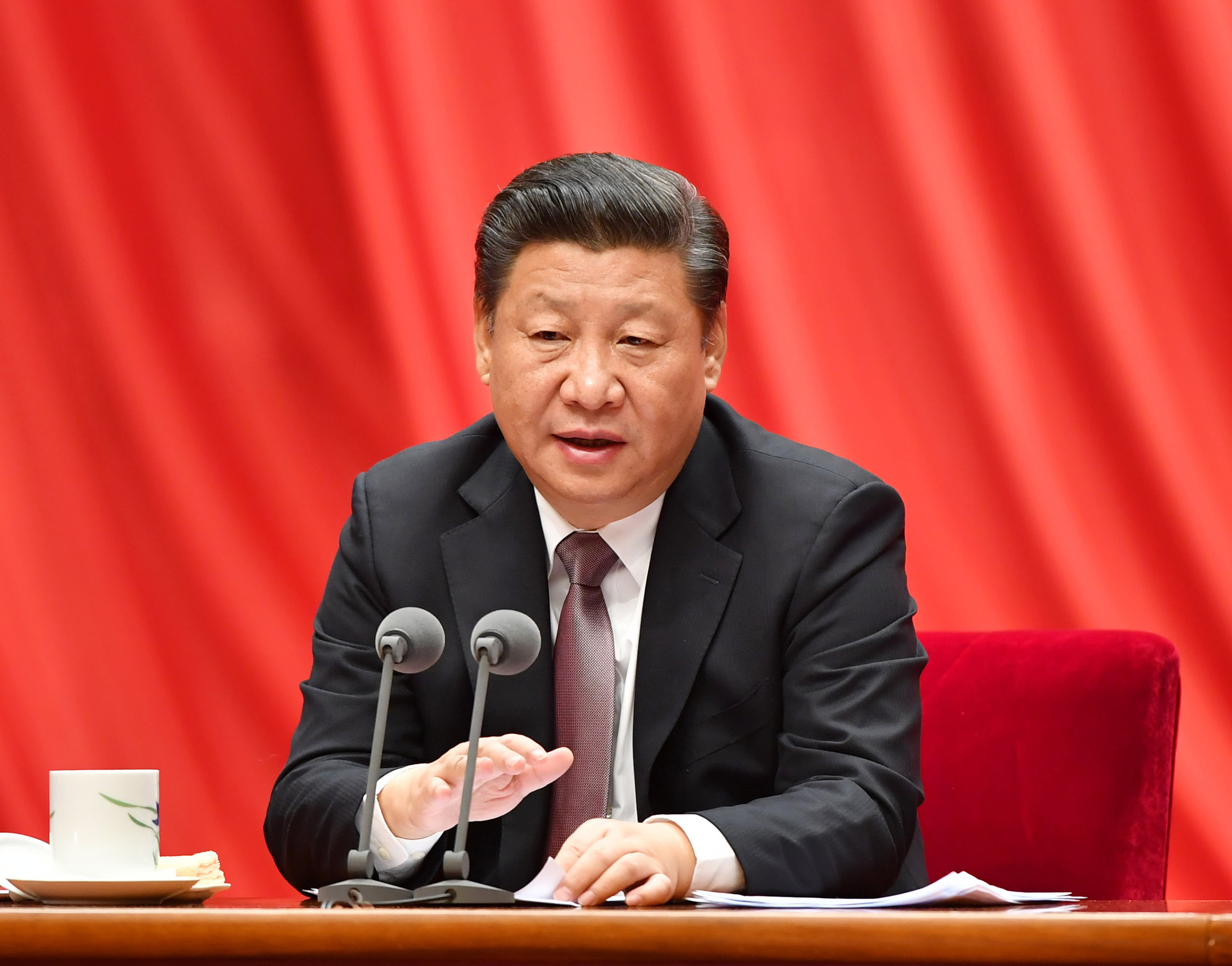 Chinese President Xi Jinping speaks at the seventh plenary session of the 18th Communist Party of China Central Commission for Discipline Inspection, on Jan. 6, 2017.