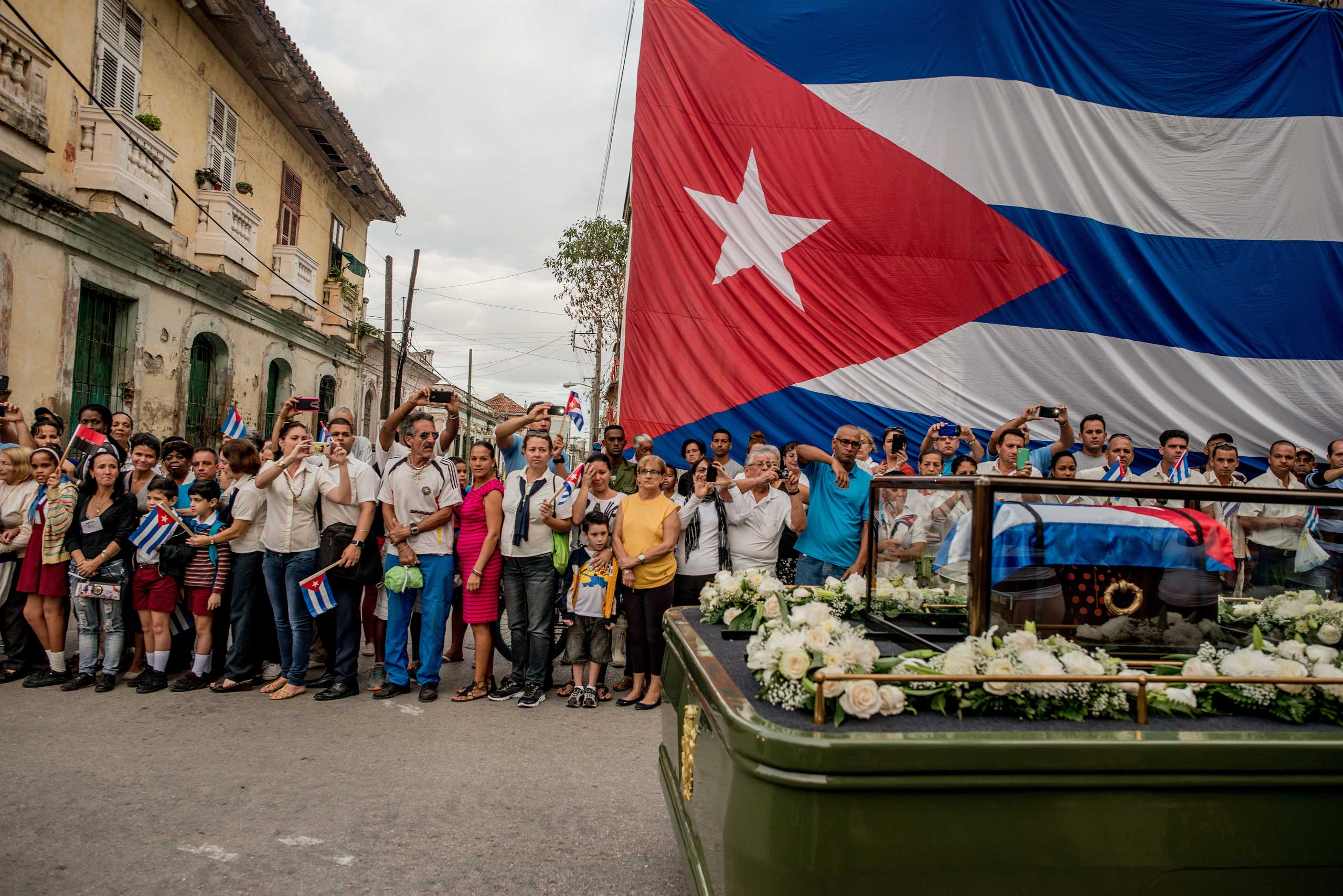 Fidel Castro's funeral procession in Santa Clara, Cuba on  Dec. 1, 2016.