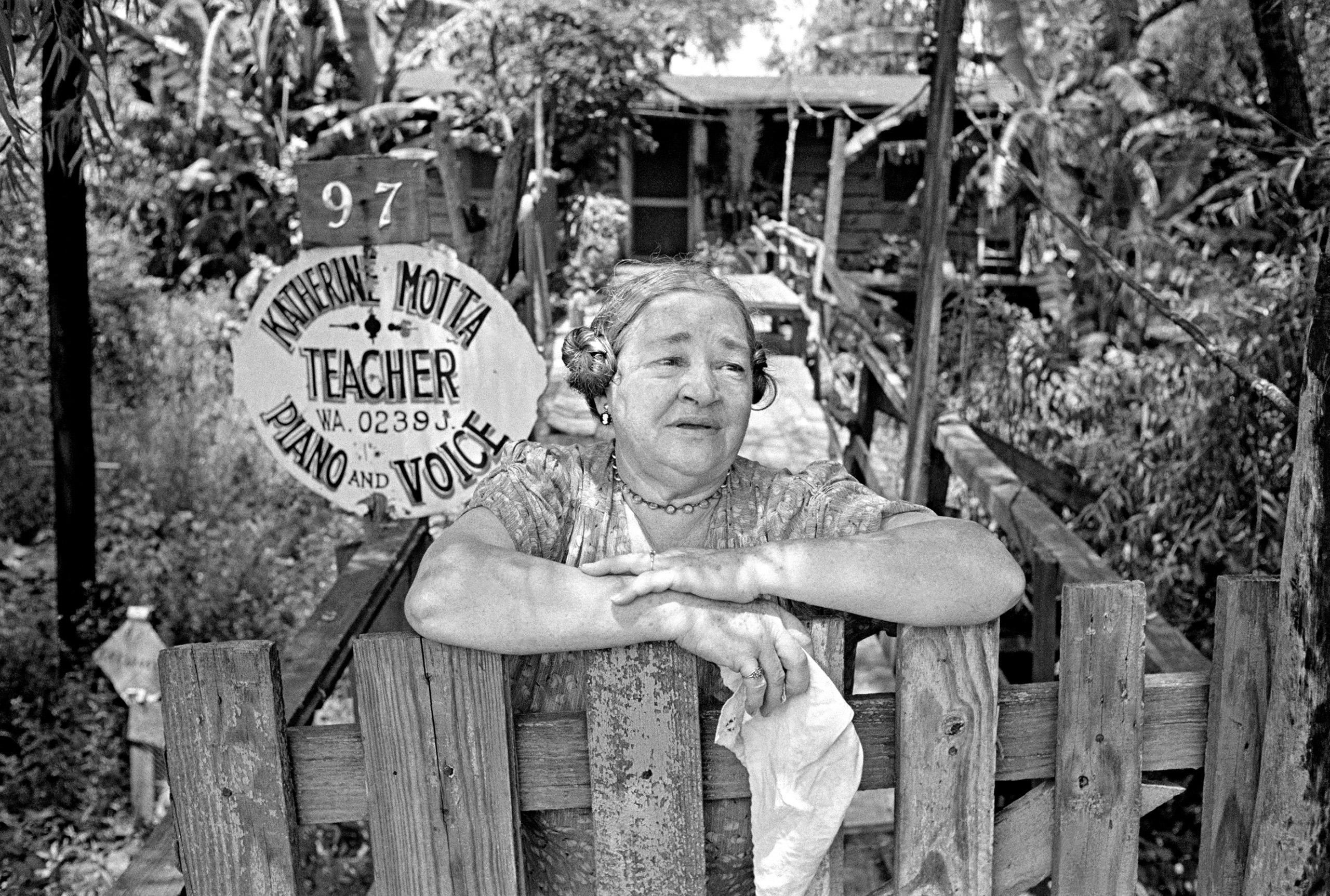 Music Teacher, Batture community, New Orleans, 1953.