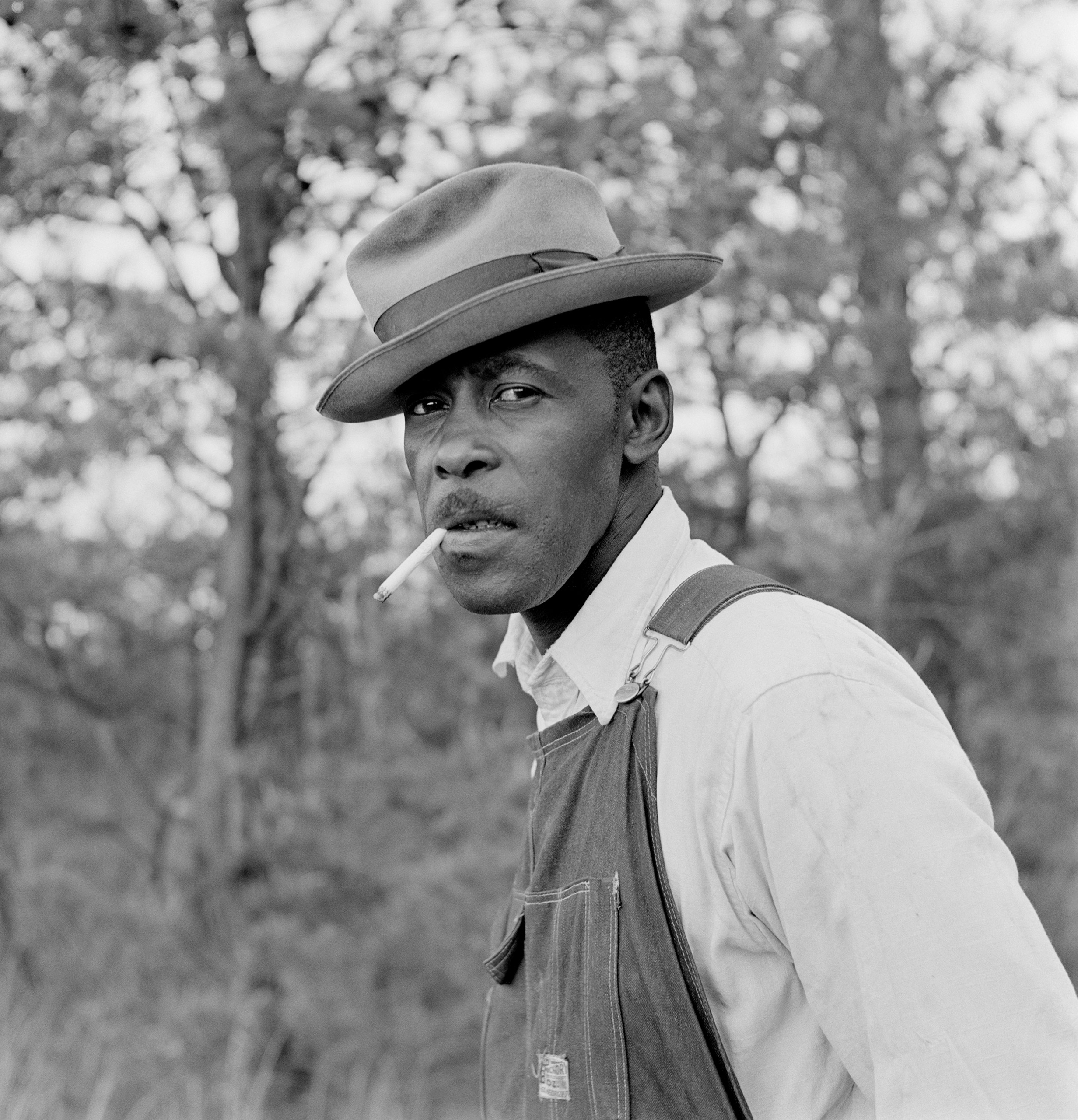 Portrait of sharecropper Matt Ingram, convicted of  rape by leer  for staring at a white woman, 1953.