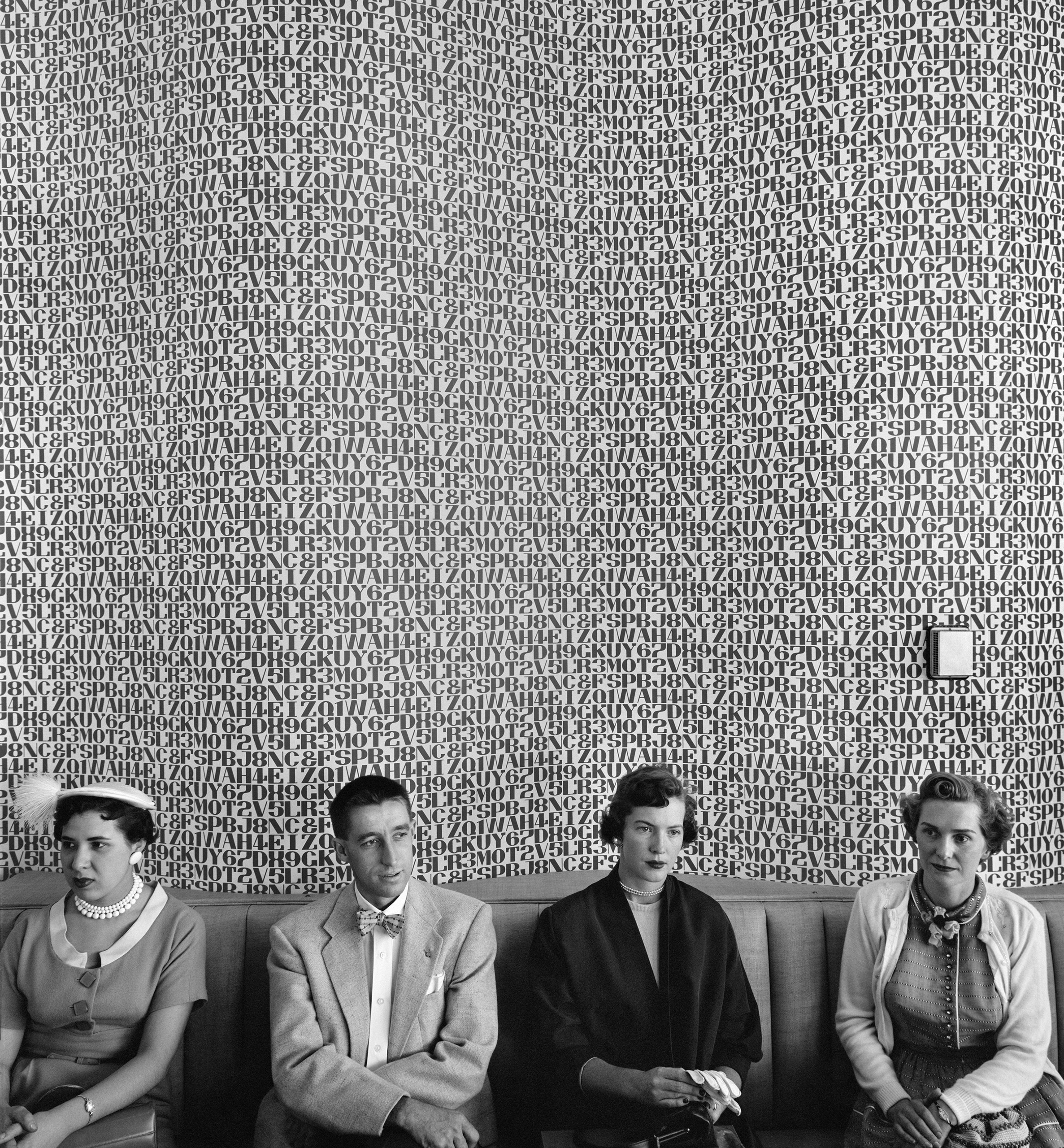 Waiting room, Detroit, Michigan, 1954.