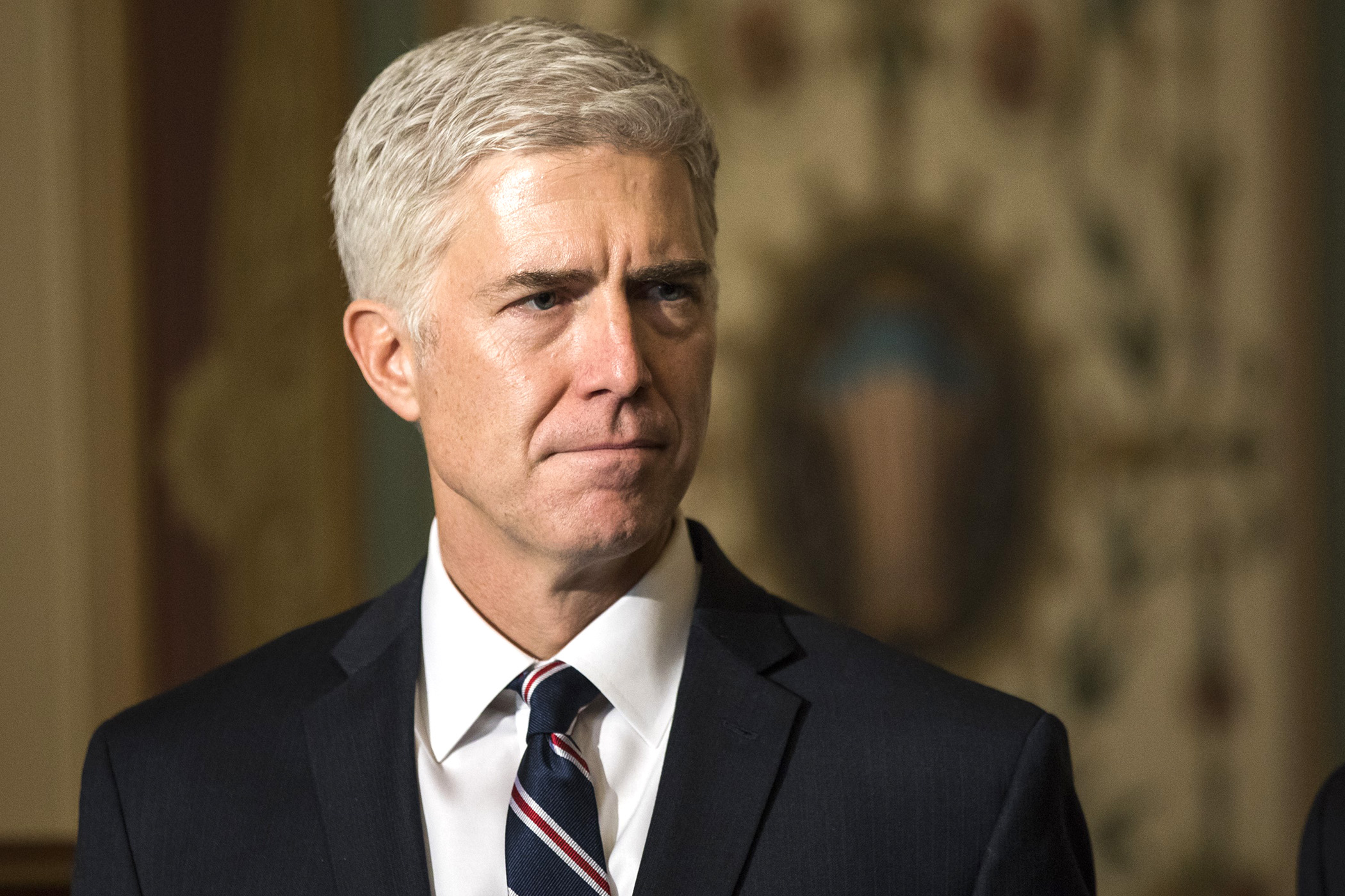 Judge Neil Gorsuch, President Trumps nominee for the U.S. Supreme Court, meets with lawmakers at the U.S. Capitol in Washington, USA on February 1, 2017.