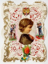 Esther Howland Valentine's Day card ca. 1870s.