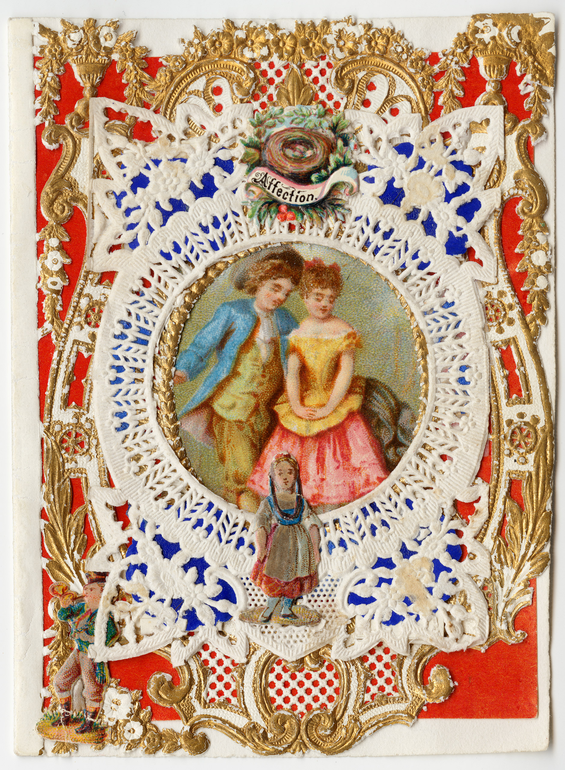 Esther Howland Valentine card,  Affection  ca. 1870s.