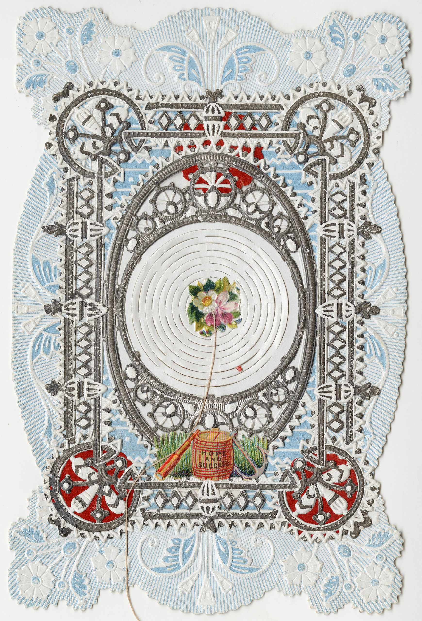 Esther Howland Valentine card,  Hope and Success  ca. 1870s.