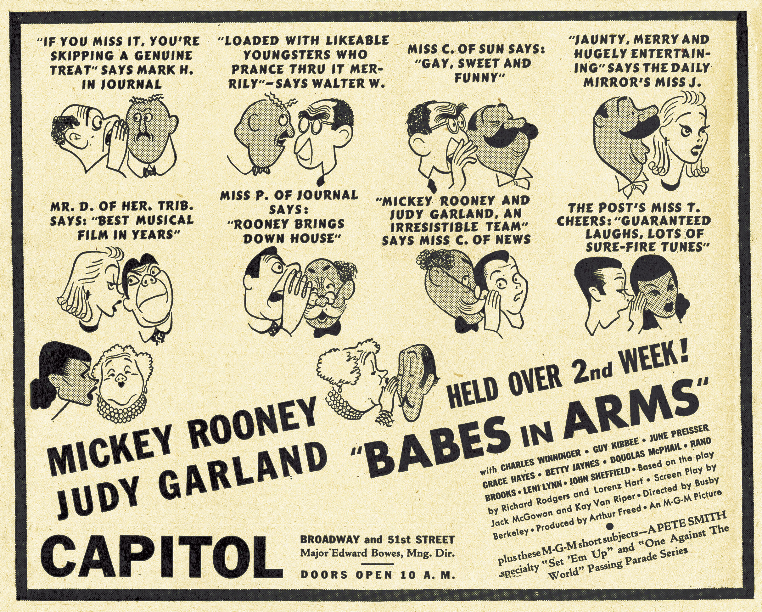 Babes in Arms newspaper advertisement, 1939.