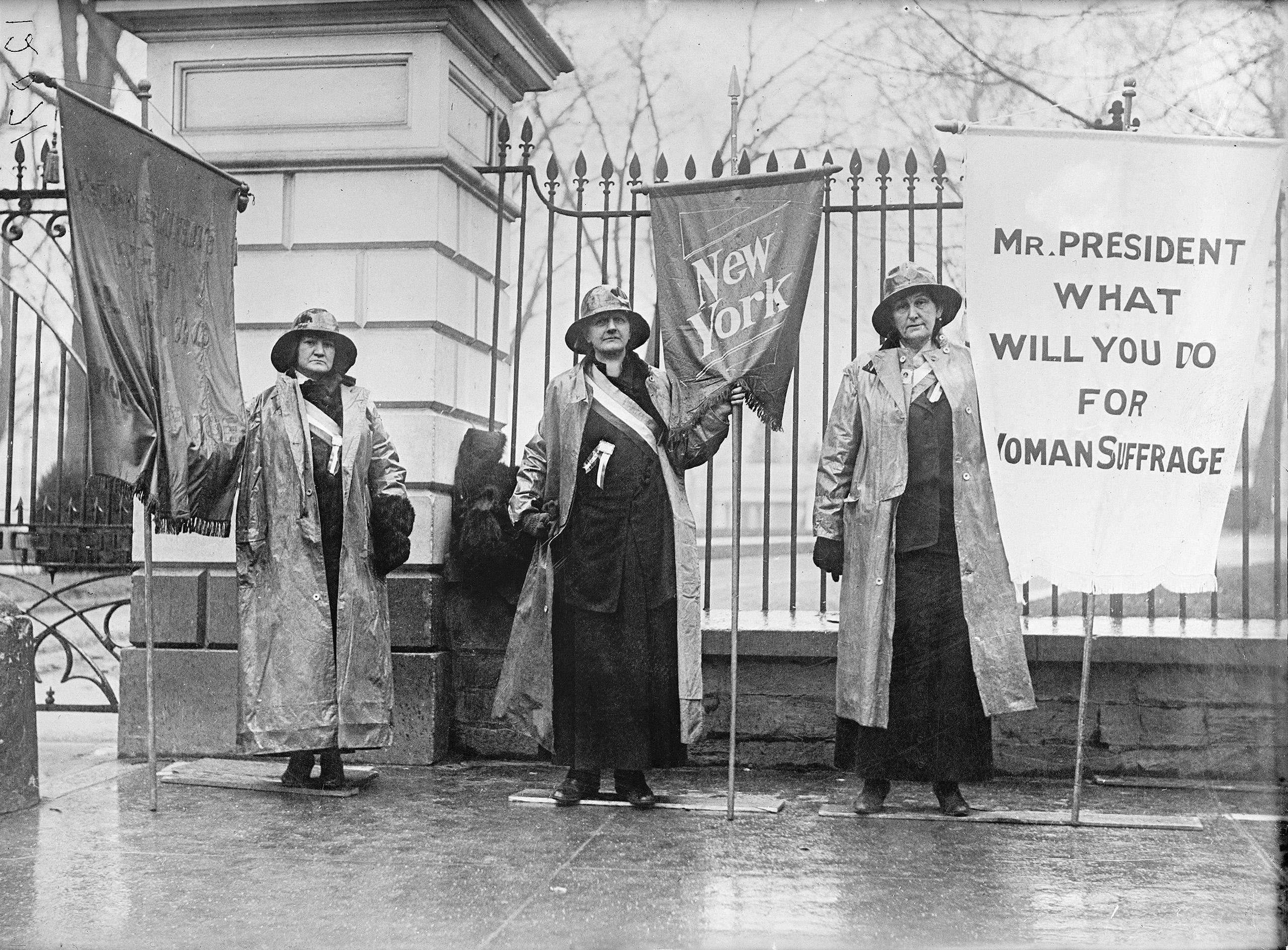 Women's Suffrage picket parade in Washington, D.C., 1917.