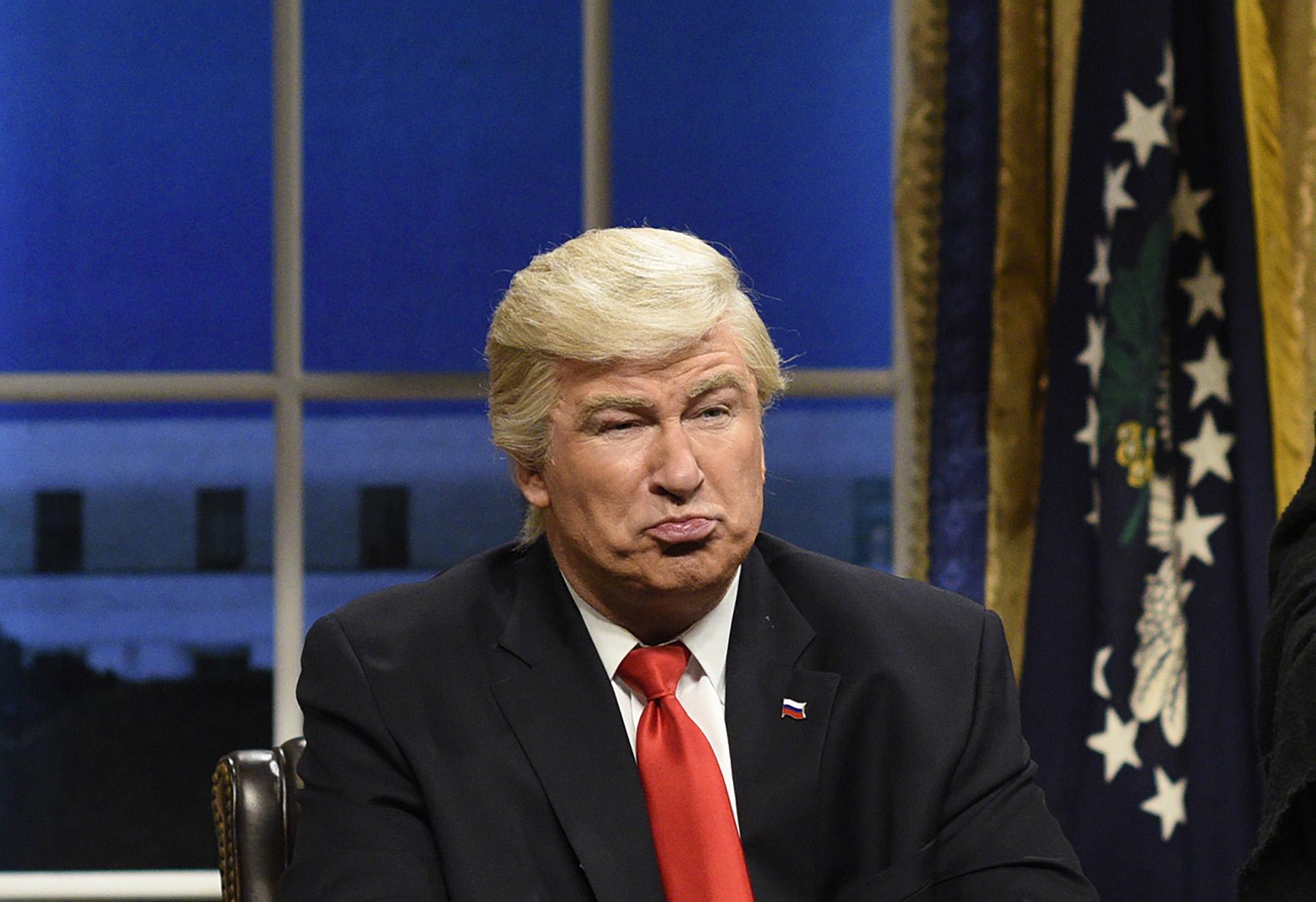 Alec Baldwin as President Donald J. Trump on 'Saturday Night Live' on February 4th, 2017