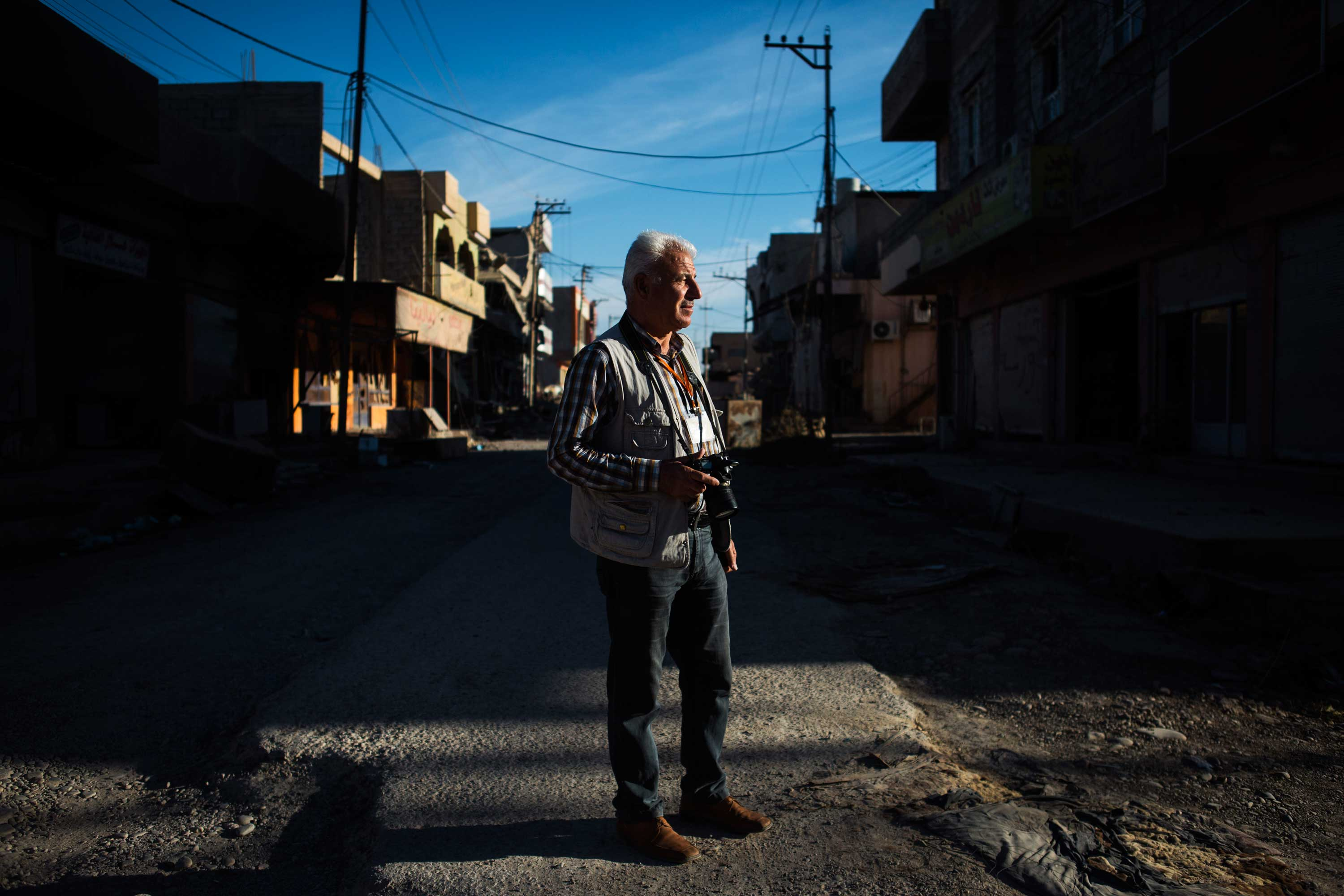Salam, 51, is a photographer from Qaraqosh and his studio was at the ground floor of his house.