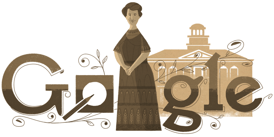 Google Doodle to mark what would have been the 163rd birthday of Aletta Jacobs