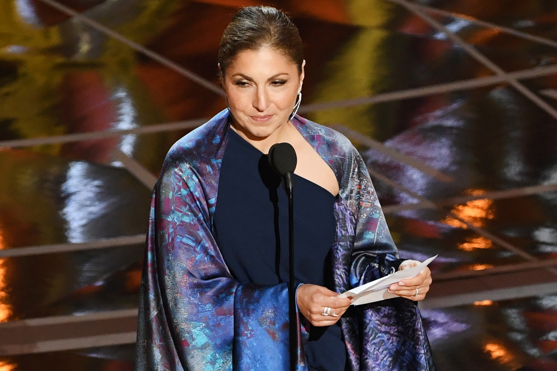 Engineer/astronaut Anousheh Ansari accepts Best Foreign Language Film for The Salesman on behalf of director Asghar Farhadi during the 89th Annual Academy Awards, on Feb. 26, 2017 in Hollywood, Calif.