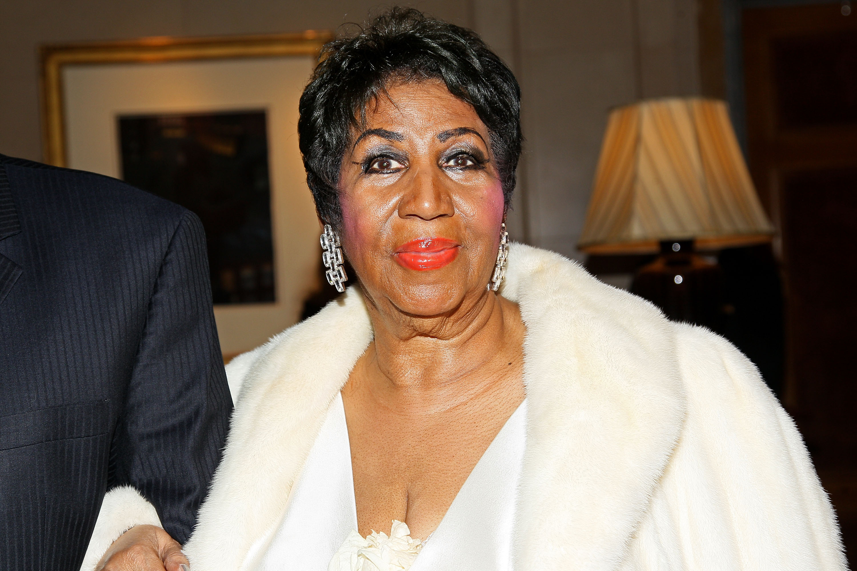Aretha Franklin attends her 74th Birthday Celebration at The Ritz Carlton Hotel on April 14, 2016 in New York City.