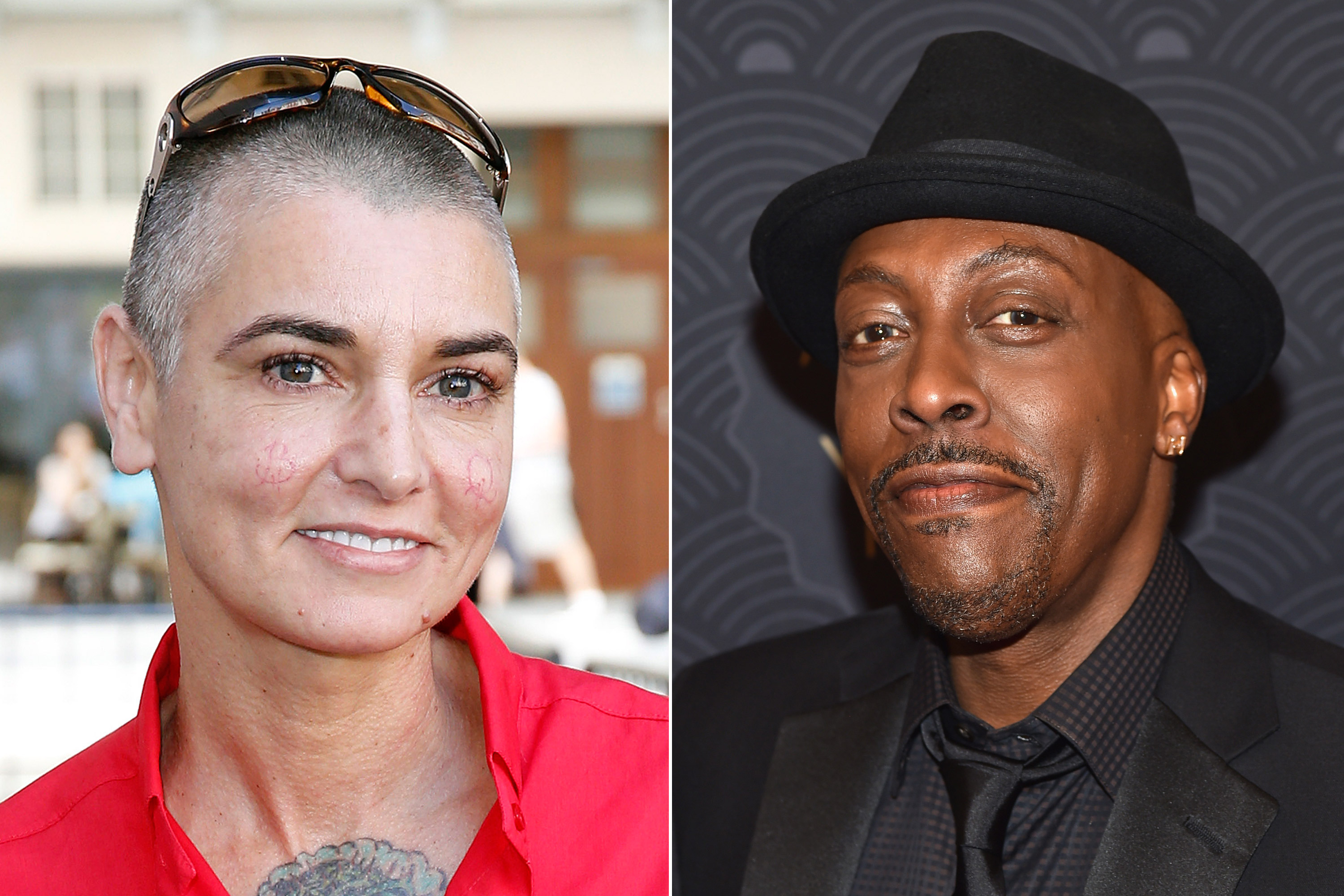 Sinead O'Connor and Arsenio Hall (L-R).