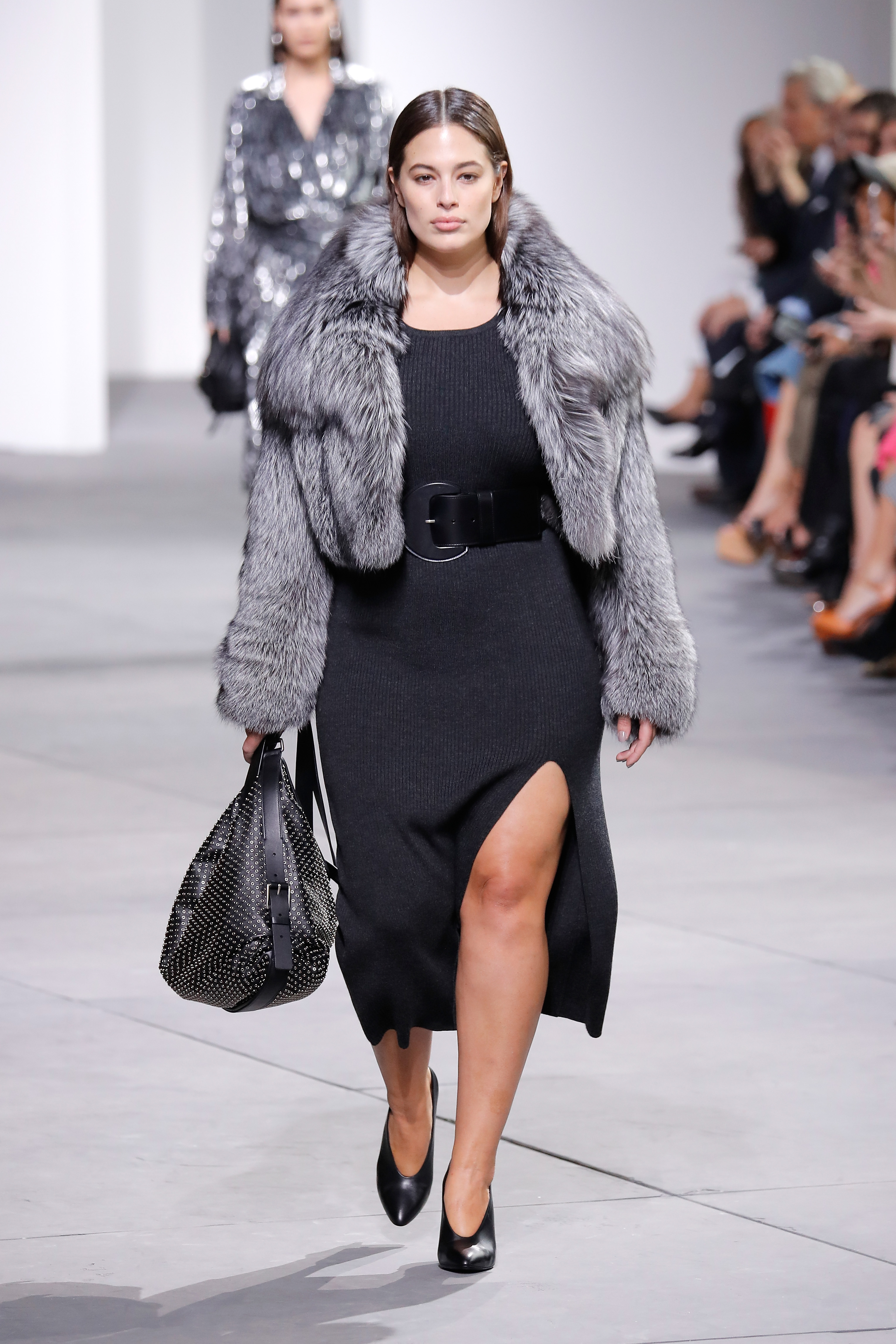 NEW YORK, NY - FEBRUARY 15: Model Ashley Graham walks the runway during the Michael Kors Collection Fall 2017 fashion show at Spring Studios on February 15, 2017 in New York City. (Photo by JP Yim/Getty Images for Michael Kors)