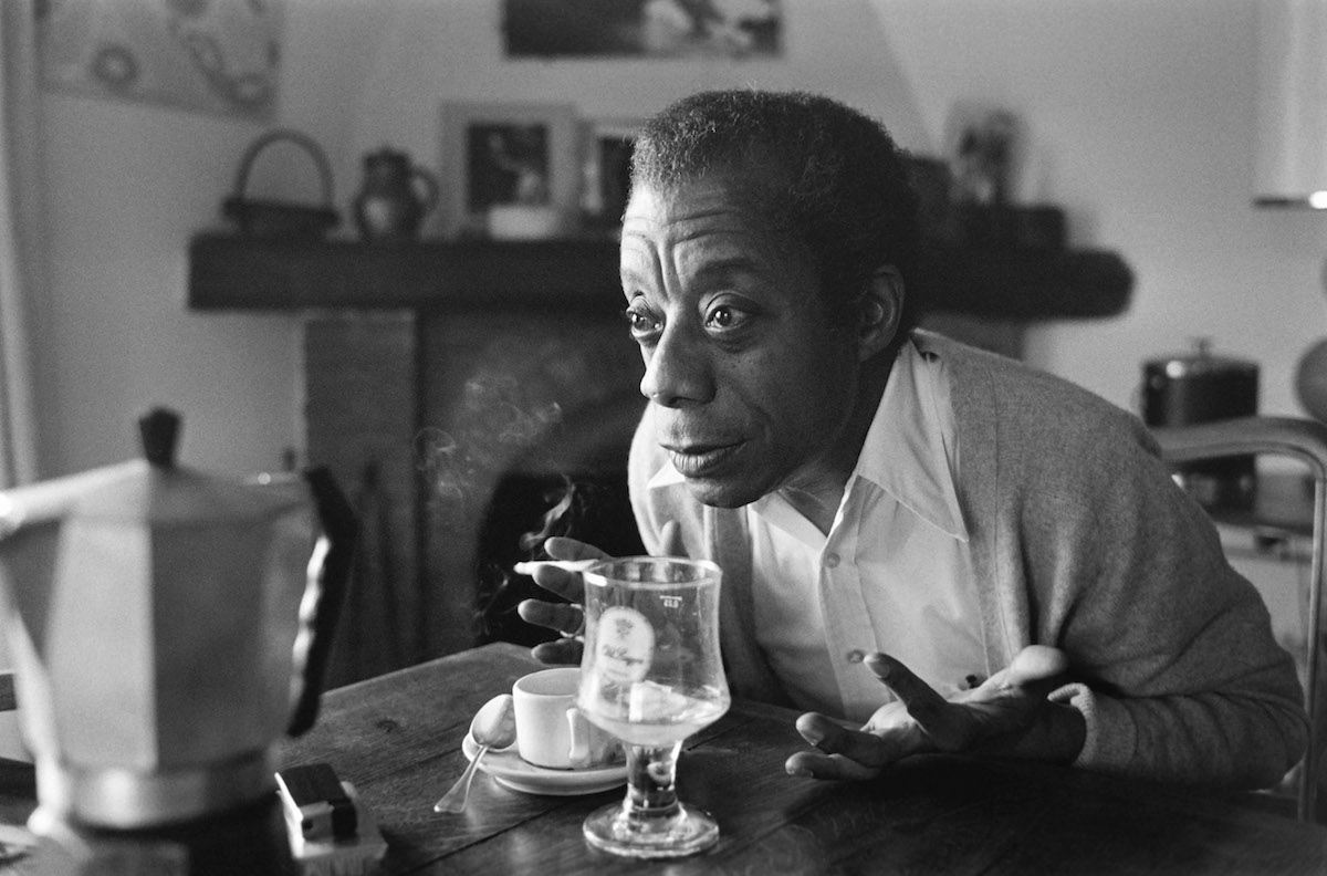 James Baldwin at his home in Saint-Paul-de-Vence, southern France, on Nov. 6, 1979.