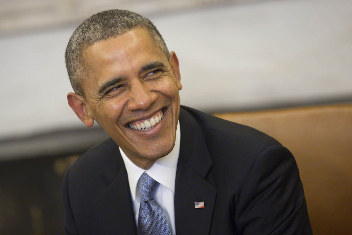 President Barack Obama smiles as during a meeting in the Oval Office at the White House on Feb. 11, 2014, in Washington, DC.