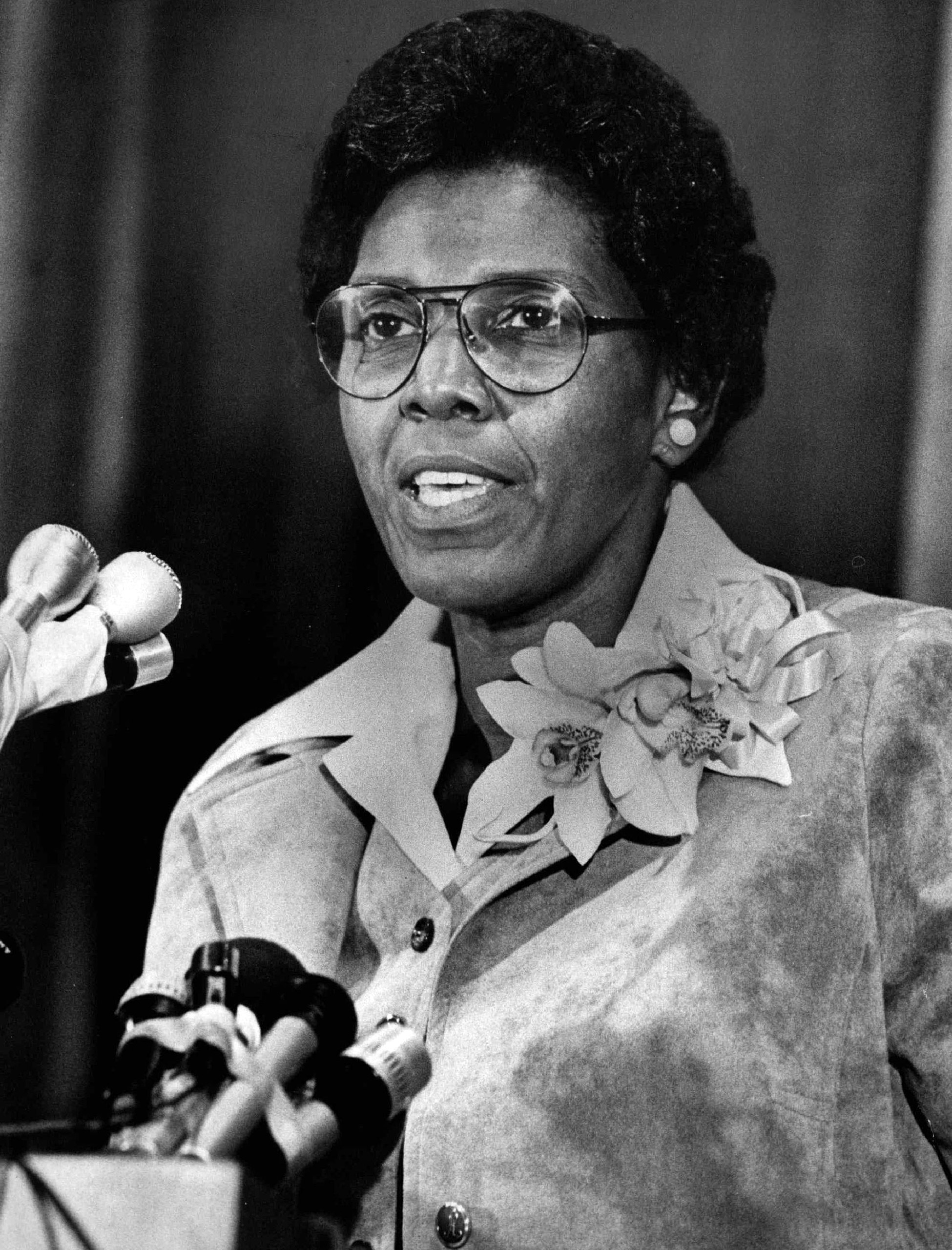 US Representative Barbara Jordan, 1977.