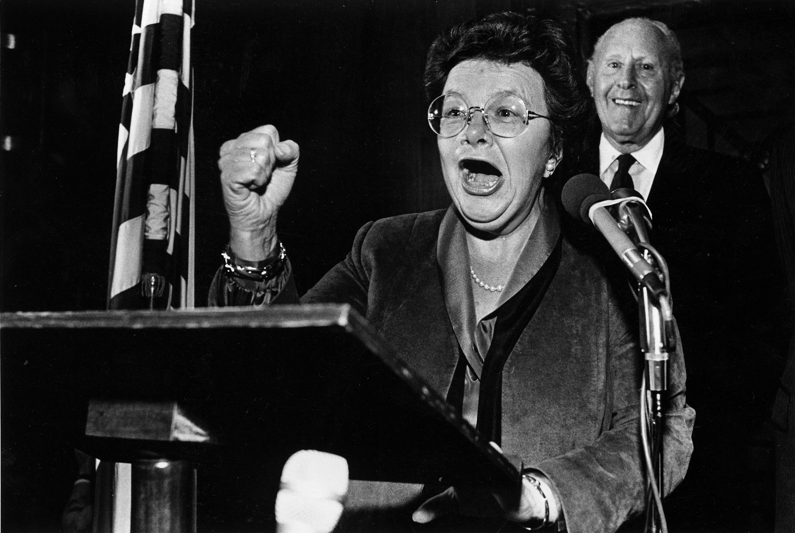 Barbara Mikulski at her reception following her swearing-in at the U.S. Capitol in Washington, DC on Jan. 6, 1987.
