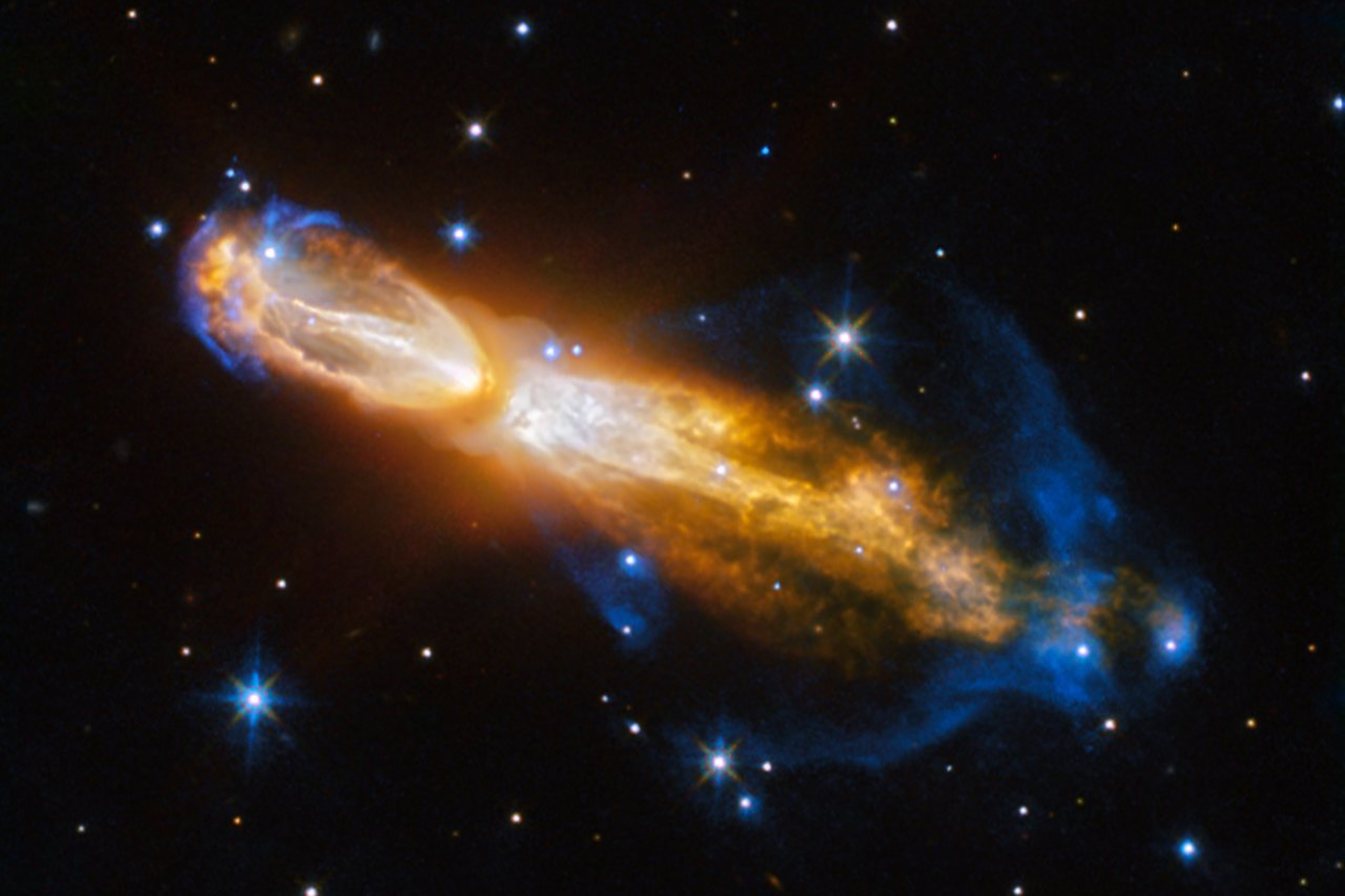 The Calabash Nebula, pictured here — which has the technical name OH 231.8+04.2 — is a spectacular example of the death of a low-mass star like the Sun.