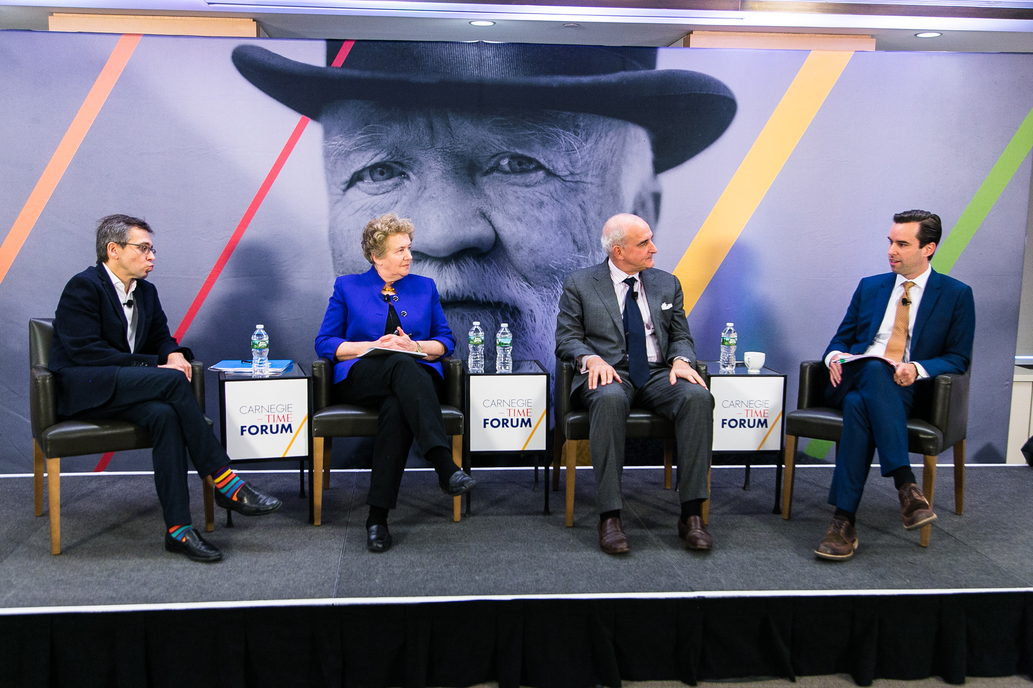 Ian Bremmer, Pippa Norris, Roger Cohen and Michael Scherer discuss populism during the Carnegie Corporation-TIME forum on Feb. 7, 2017.