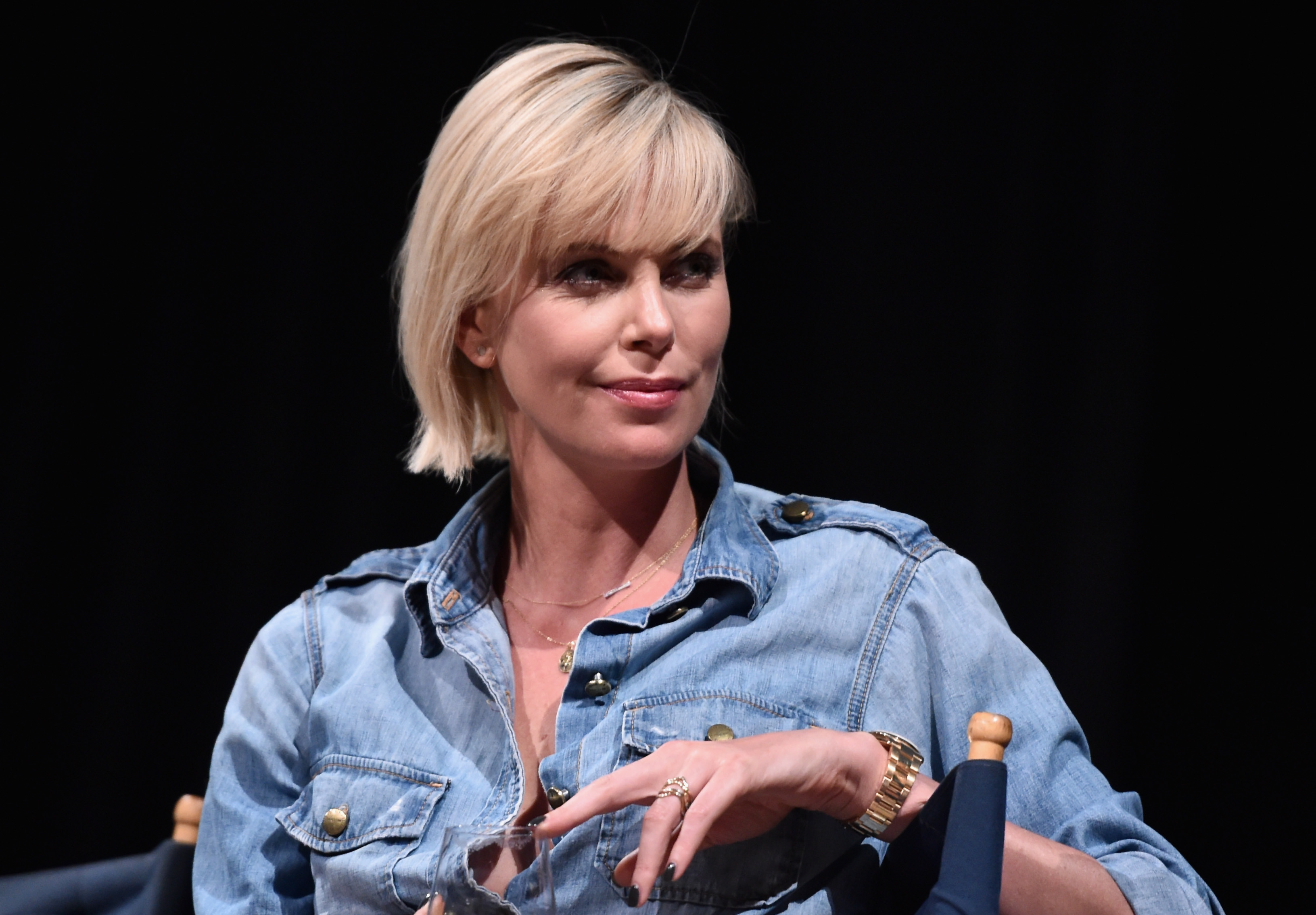 Actress Charlize Theron attend a reunion for  Two Days In The Valley  at NeueHouse Hollywood on July 8, 2016 in Los Angeles, California.