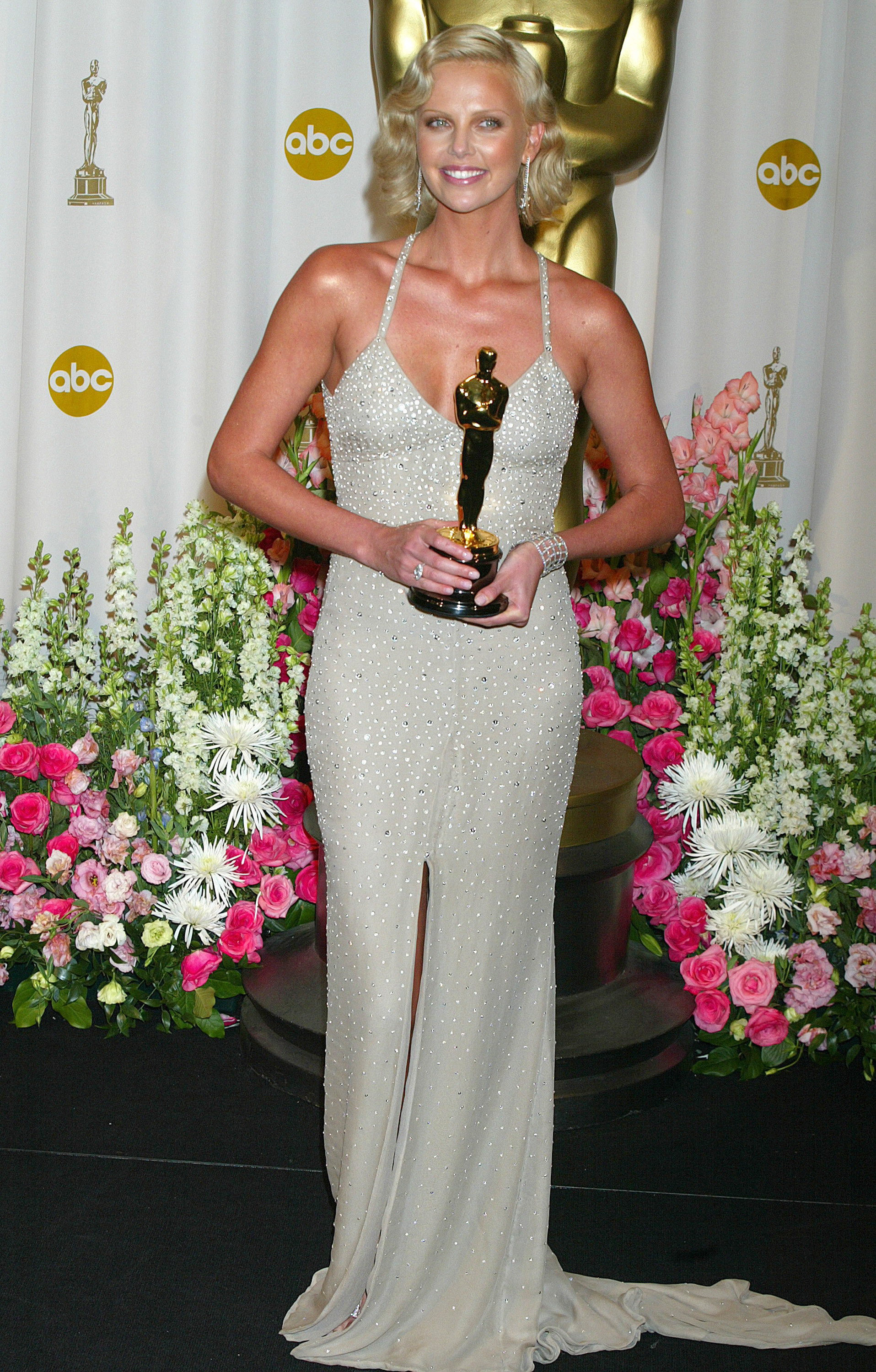 Charlize Theron, winner of Best Actress for  Monster  (Photo by Jeffrey Mayer/WireImage)