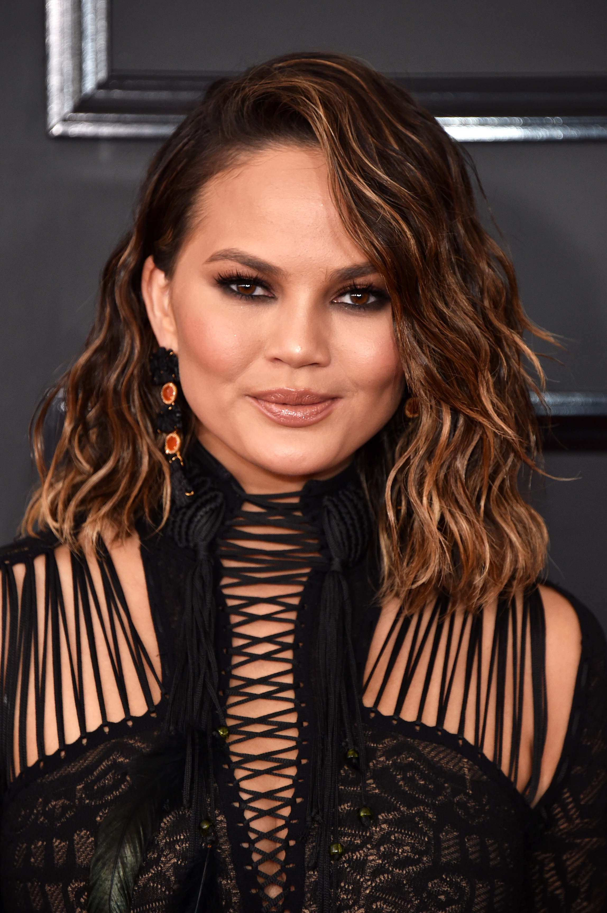 LOS ANGELES, CA - FEBRUARY 12: TV personality-model Chrissy Teigen attends The 59th GRAMMY Awards at STAPLES Center on February 12, 2017 in Los Angeles, California. (Photo by John Shearer/WireImage)