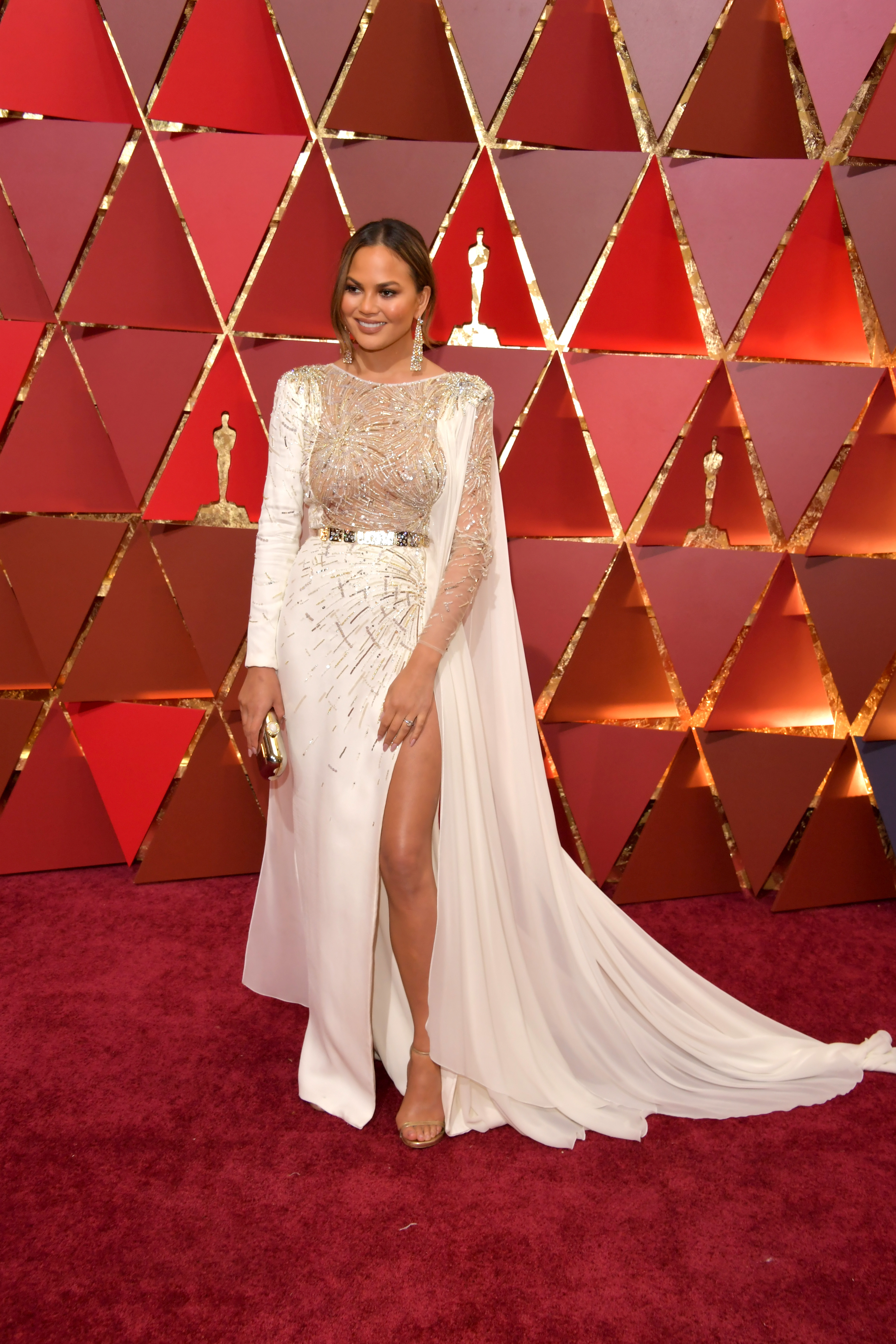 HOLLYWOOD, CA - FEBRUARY 26: Model Chrissy Teigen attends the 89th Annual Academy Awards at Hollywood & Highland Center on February 26, 2017 in Hollywood, California. (Photo by Lester Cohen/WireImage)