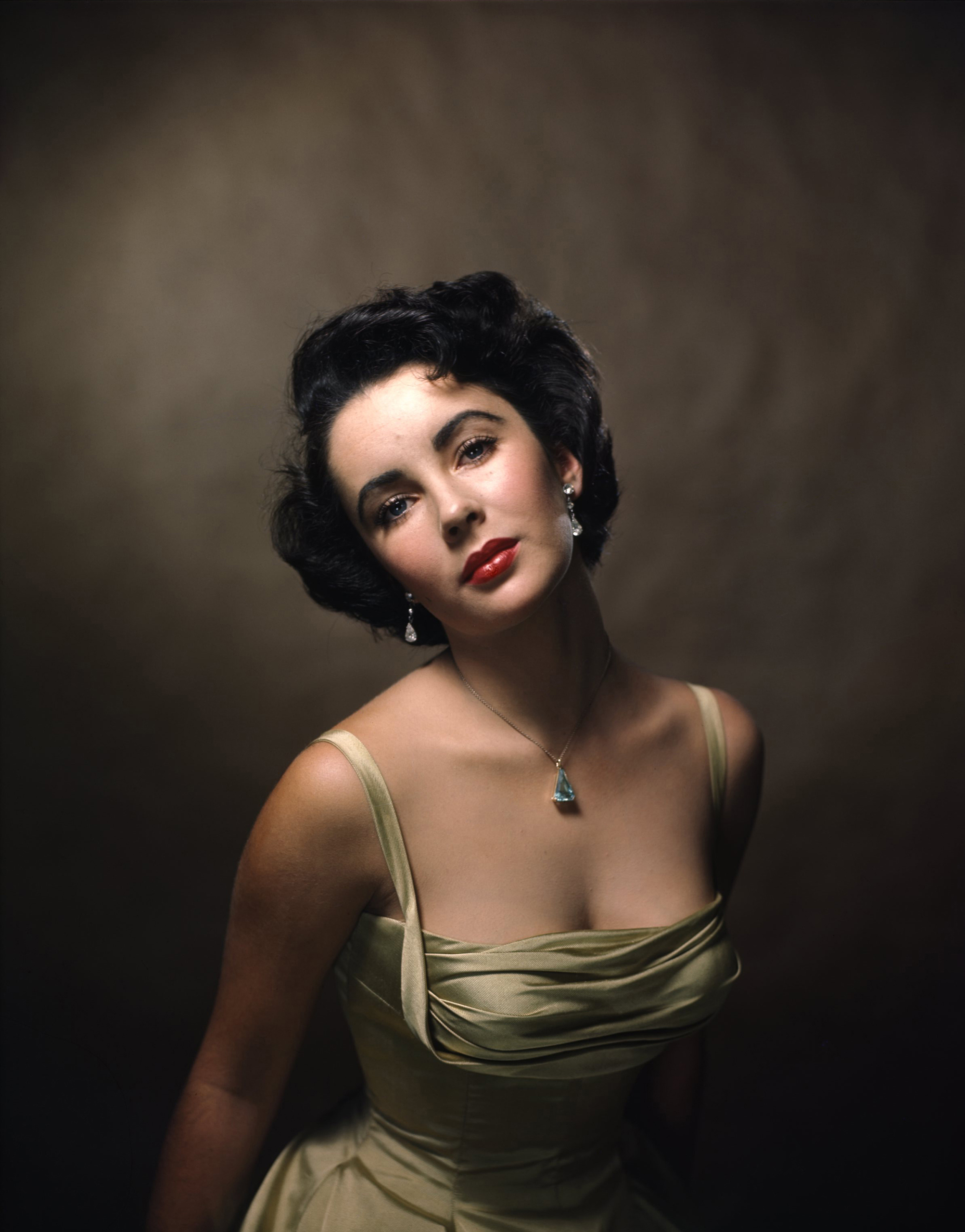 Color portrait of Elizabeth Taylor, Oct. 1948.