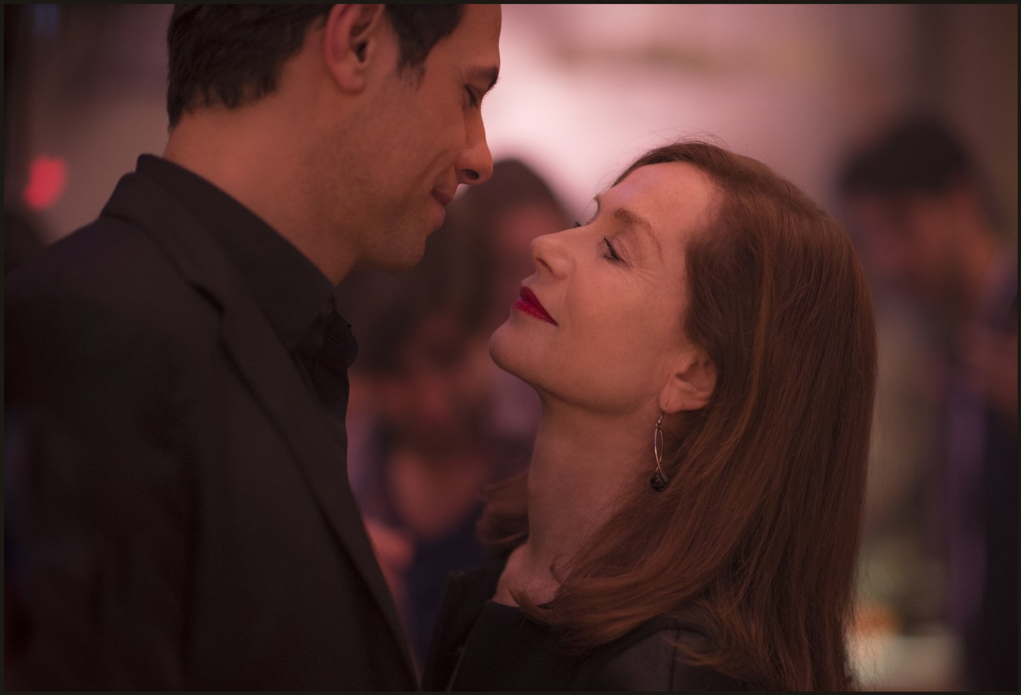 Isabelle Huppert and Laurent Lafitte in Elle