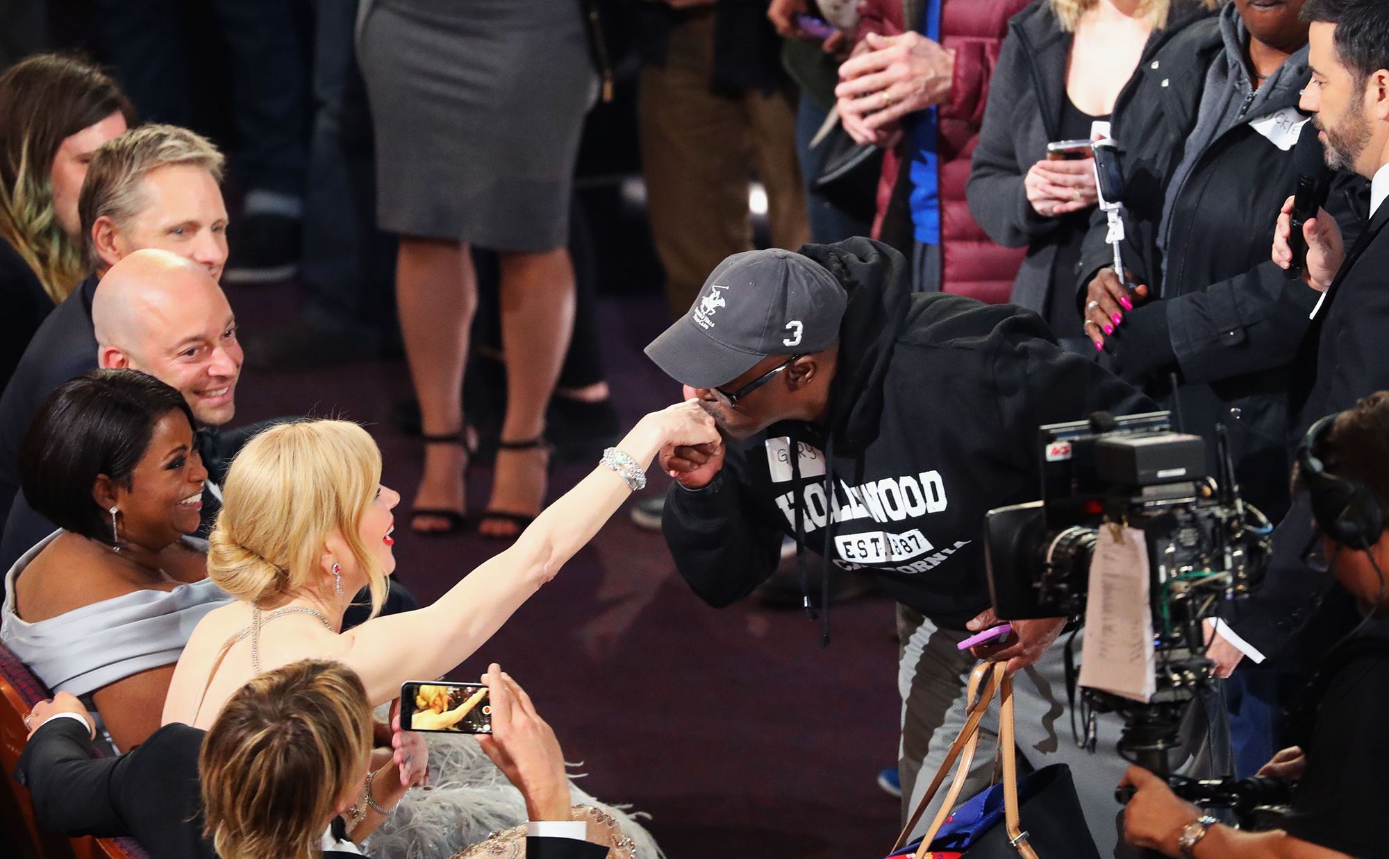 Gary from Chicago  kisses the hand of Nicole Kidman during the 89th Academy Awards, on Feb. 26, 2017 in Hollywood, Calif.
