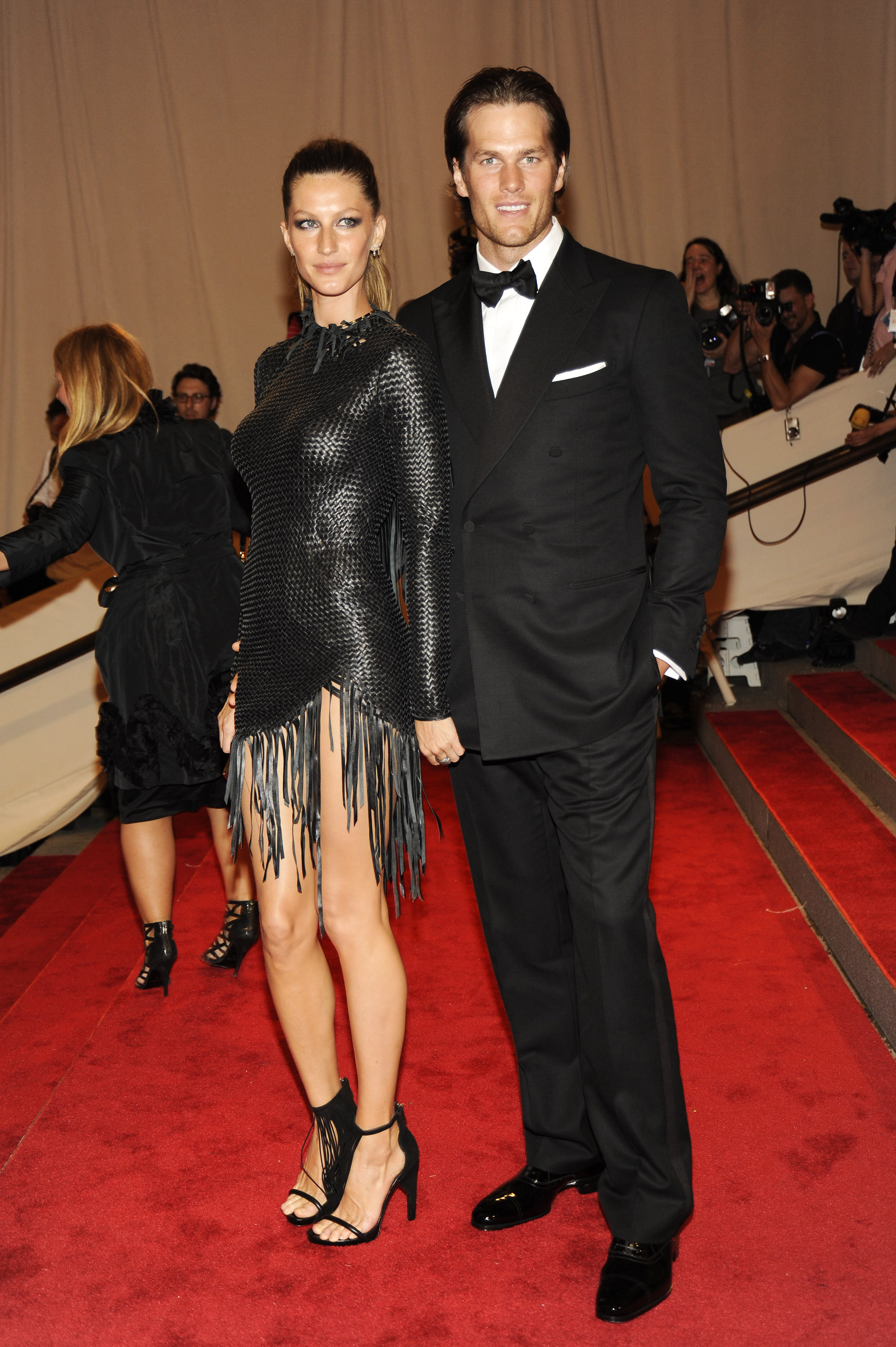 Gisele Bundchen and Tom Brady attend the Costume Institute Gala Benefit to celebrate the opening of the  American Woman: Fashioning a National Identity  exhibition at The Metropolitan Museum of Art on May 8, 2010 in New York City.