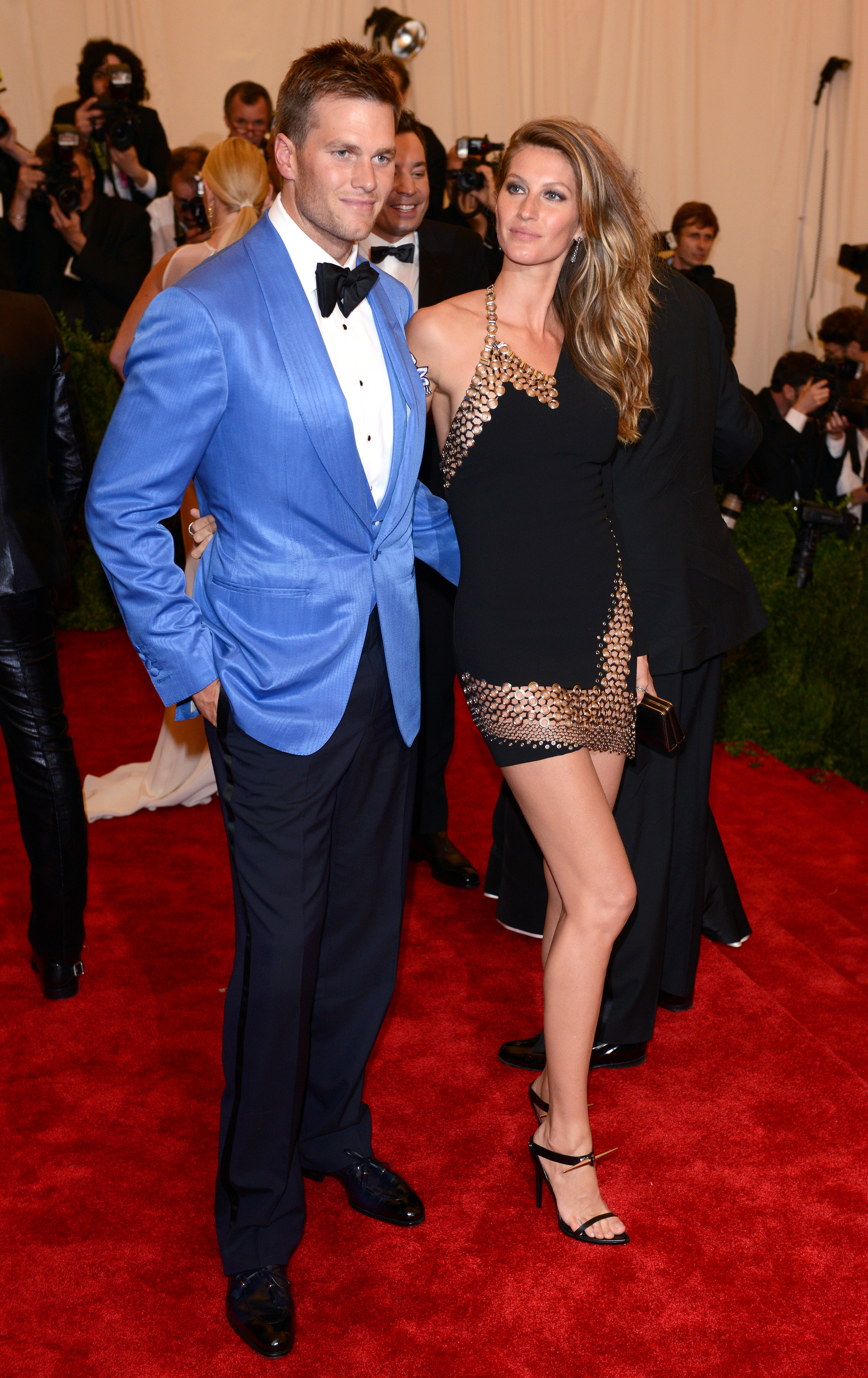 NEW YORK, NY - MAY 06: Tom Brady and Gisele Bundchen attends the Costume Institute Gala for the  PUNK: Chaos to Couture  exhibition at the Metropolitan Museum of Art on May 6, 2013 in New York City. (Photo by Karwai Tang/FilmMagic)