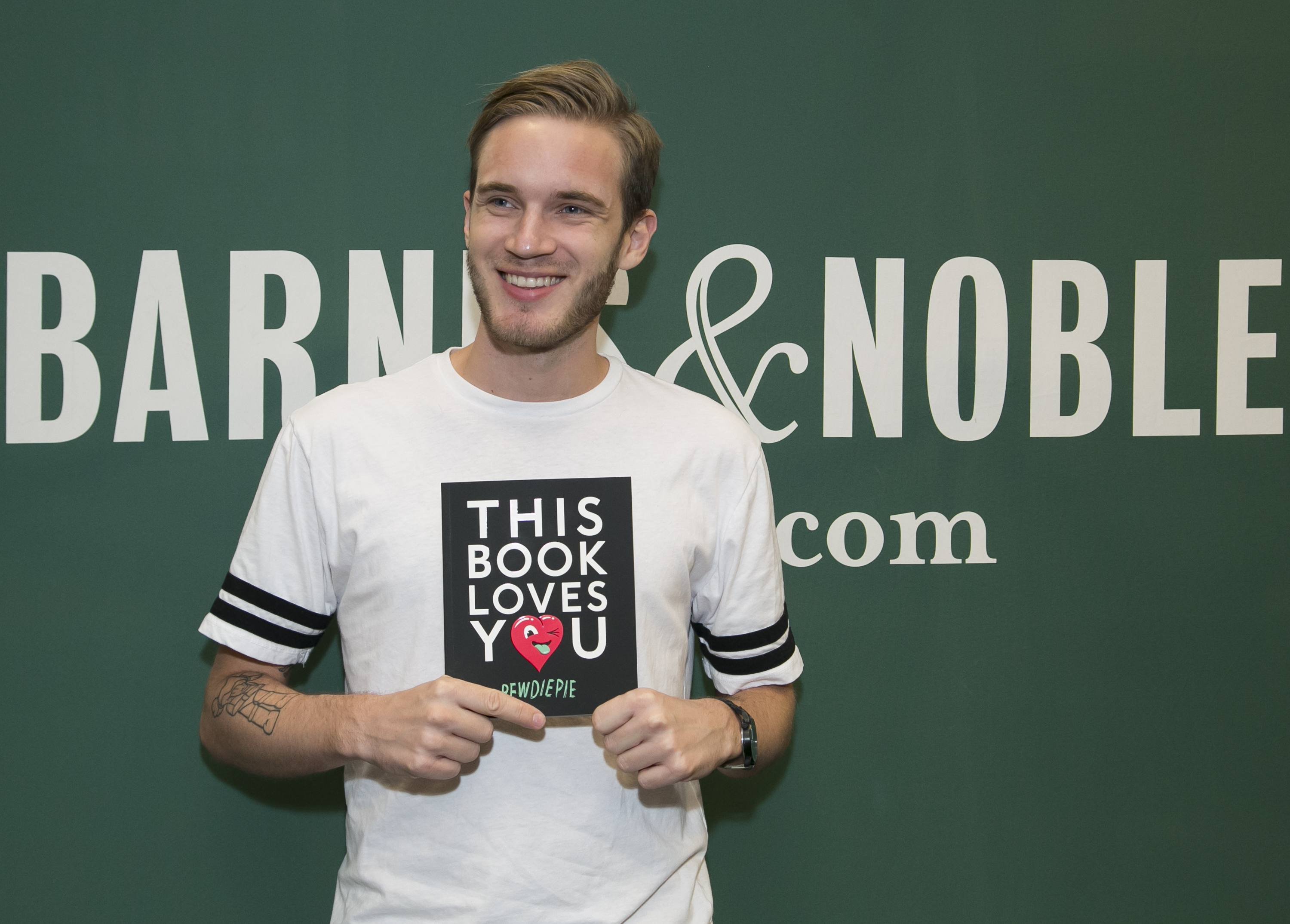 PewDiePie at a signing of his book, 'This Book Loves You,' in Los Angeles.