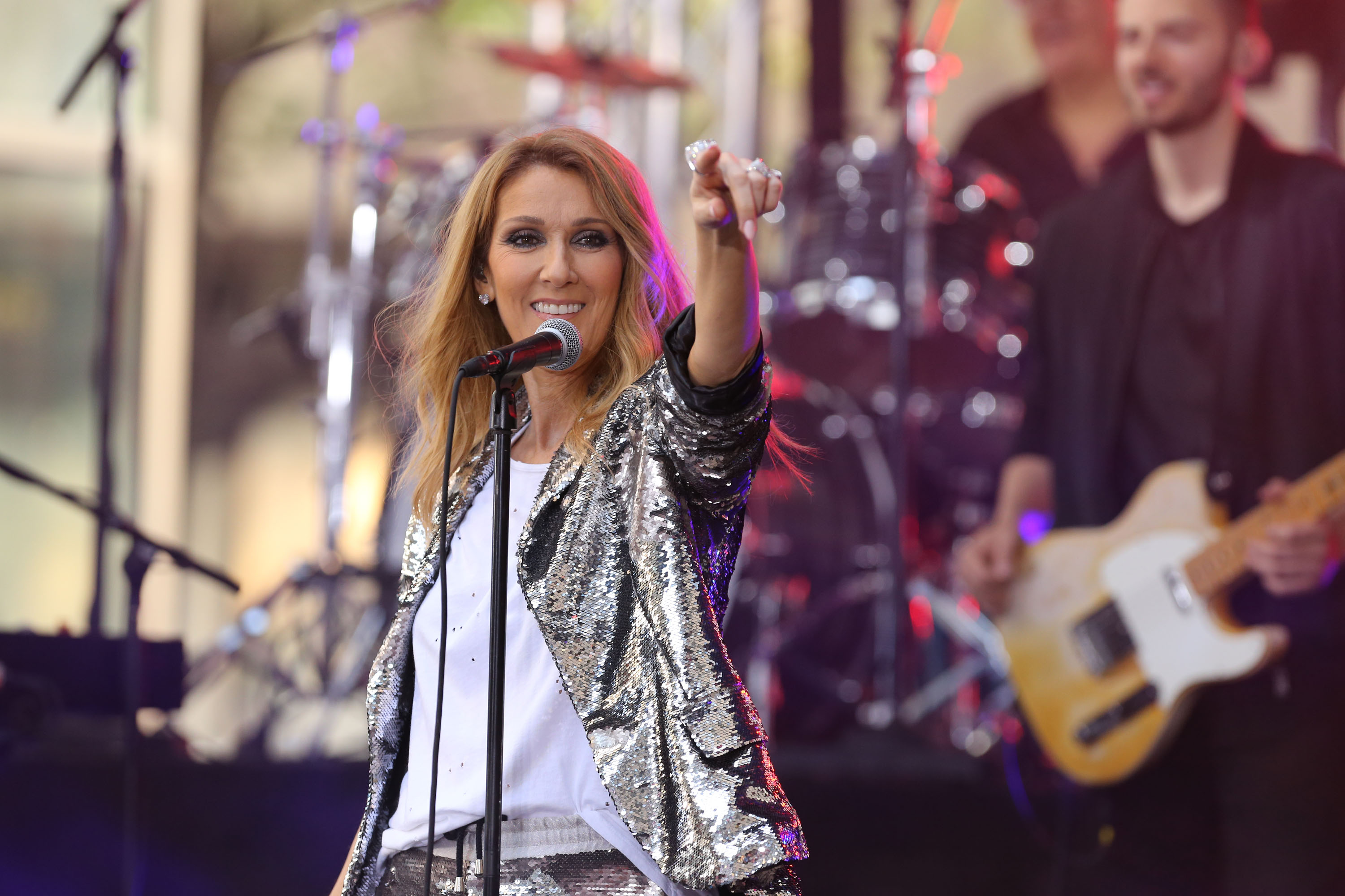 Celine Dion performs on NBC's  Today Show  at Rockefeller Plaza in New York on July 22, 2016
