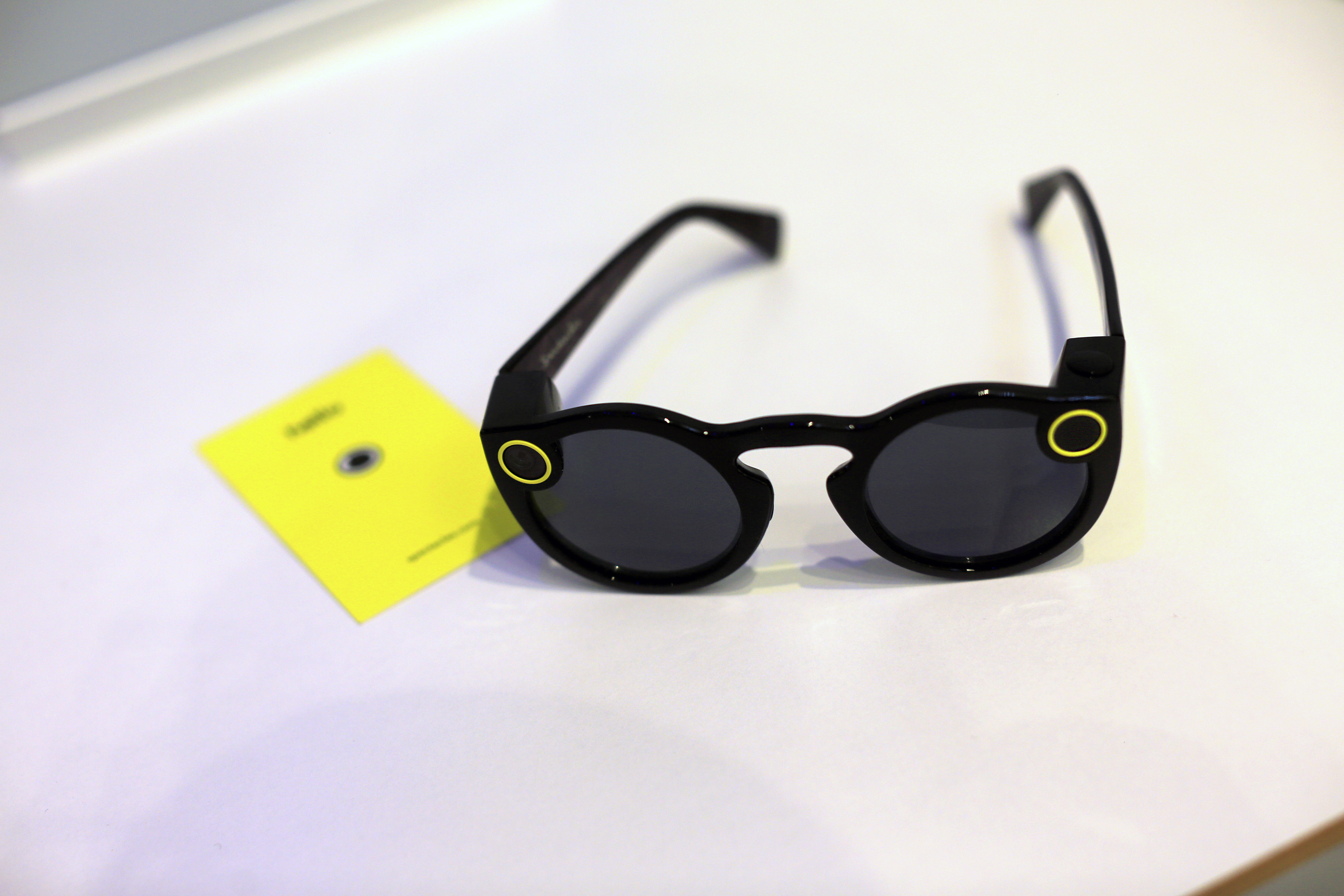 Snapchat Spectacles by Snap Inc. are displayed inside the company's pop-up store in New York on Dec. 5, 2016.