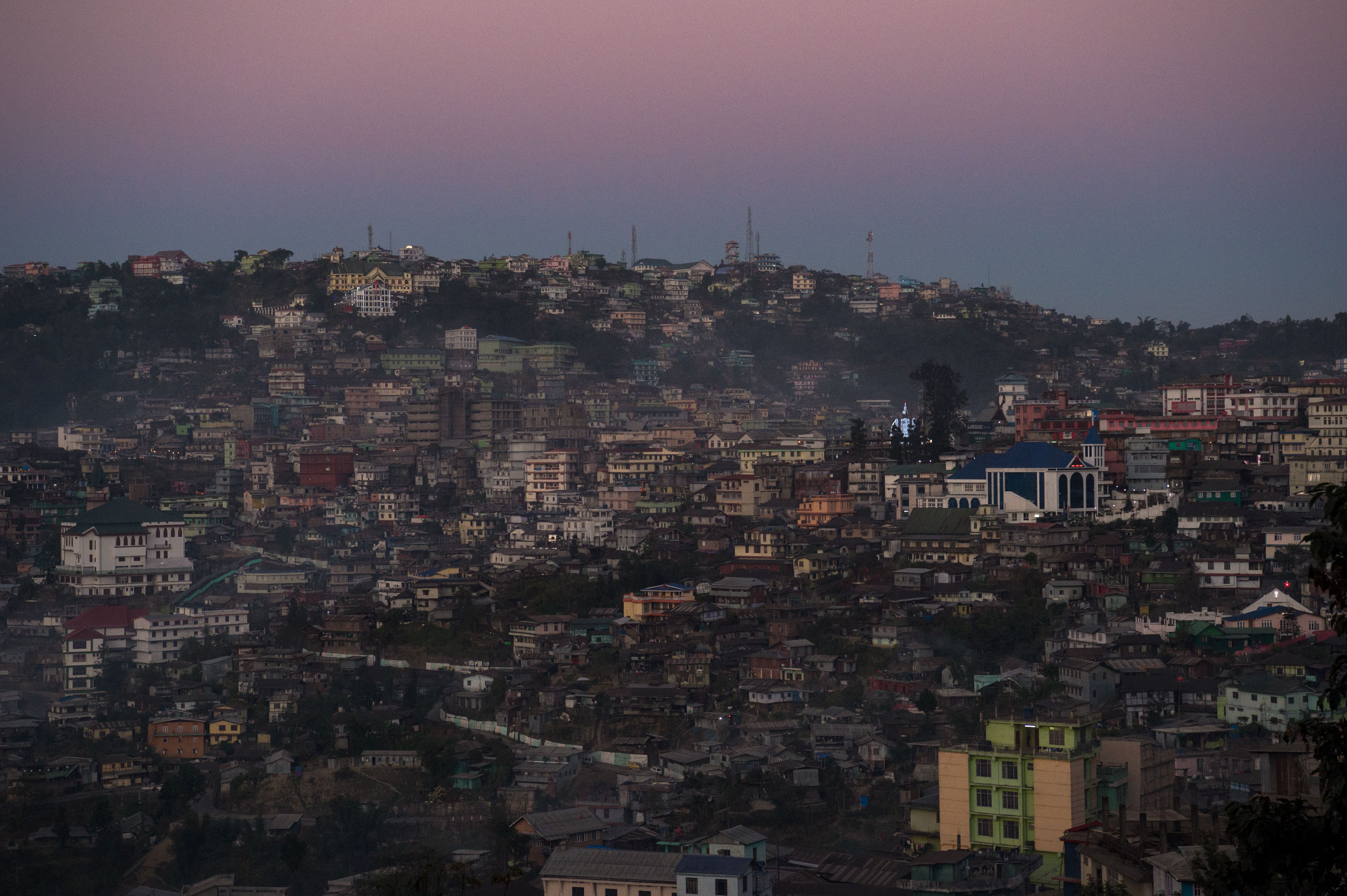 A view of Kohima, capital of the northeastern Indian state of Nagaland, on Dec. 8, 2016