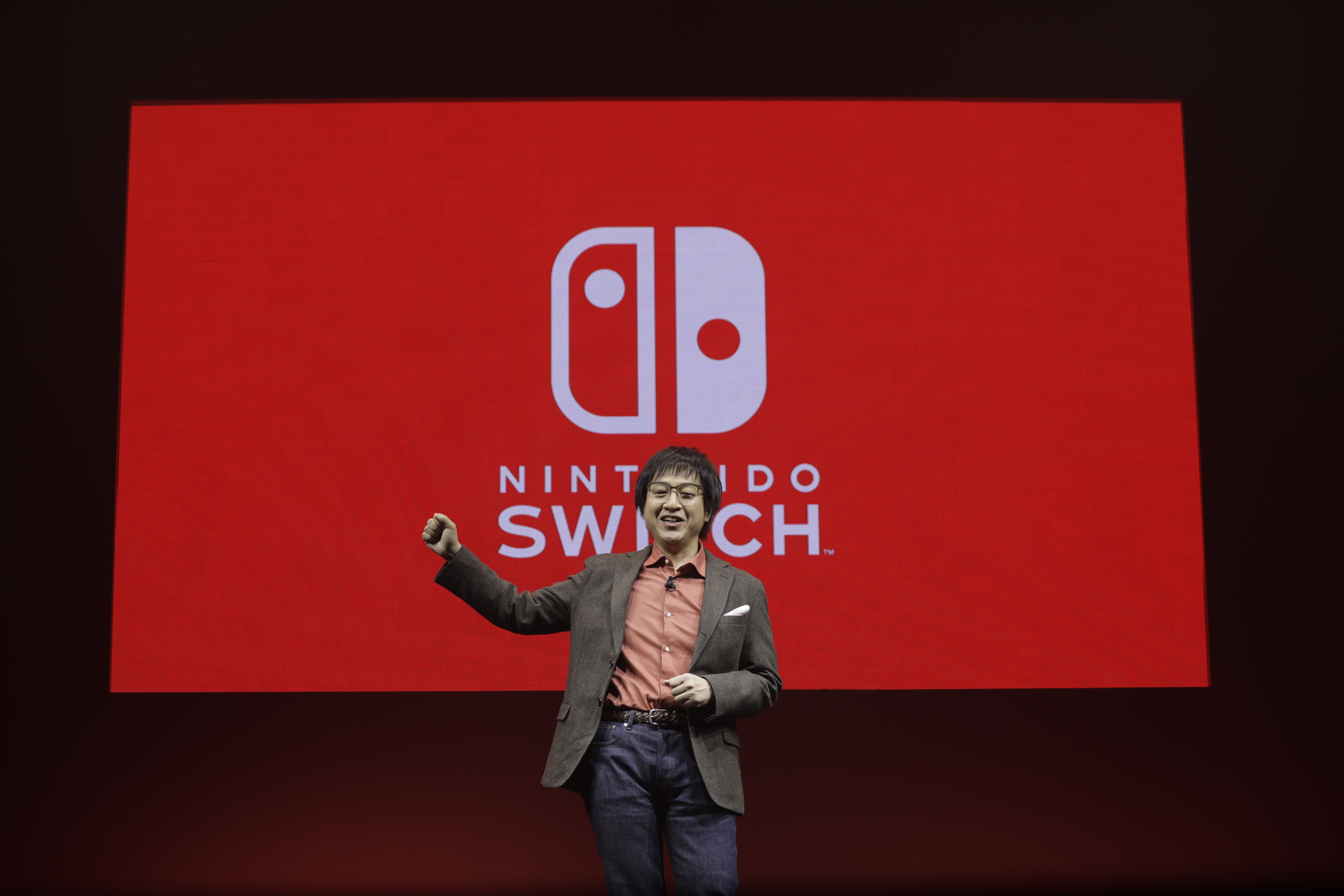 Shinya Takahashi, managing executive officer with Nintendo Co., speaks during an unveiling event for Nintendo Co.'s Switch game console in Tokyo on Friday, Jan. 13, 2017.