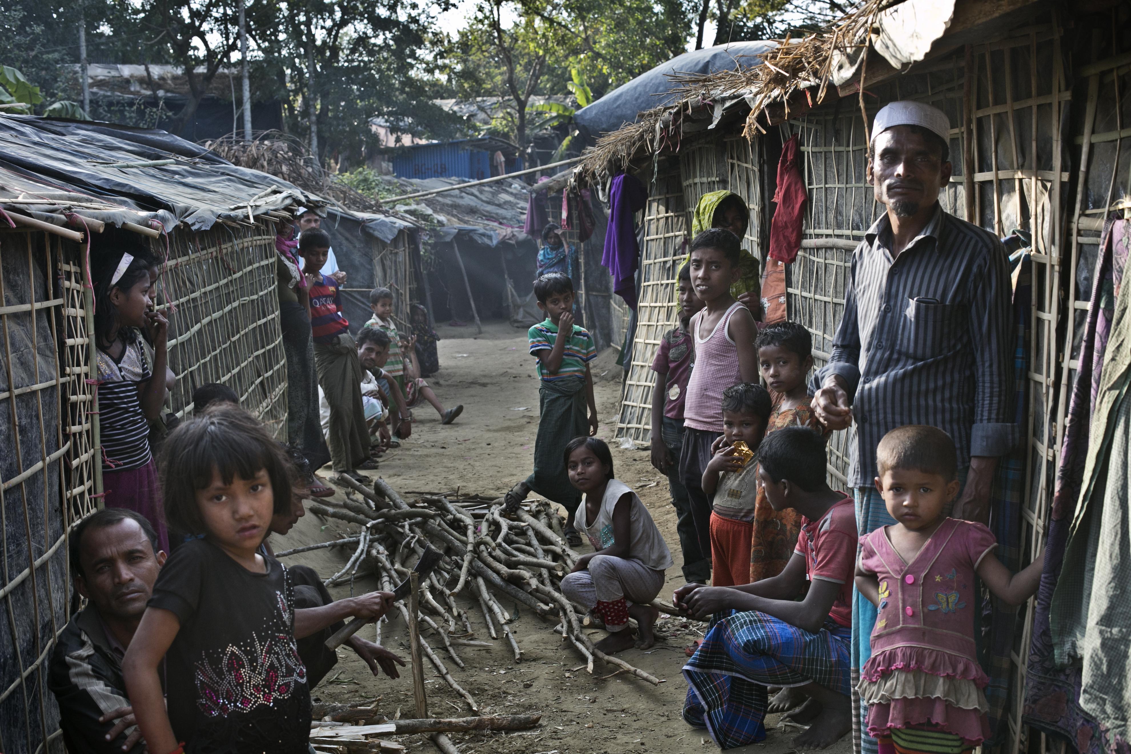 Rohingya refugees at Kutapalong camp in Cox's Bazar, Bangladesh, on Jan. 20, 2017
