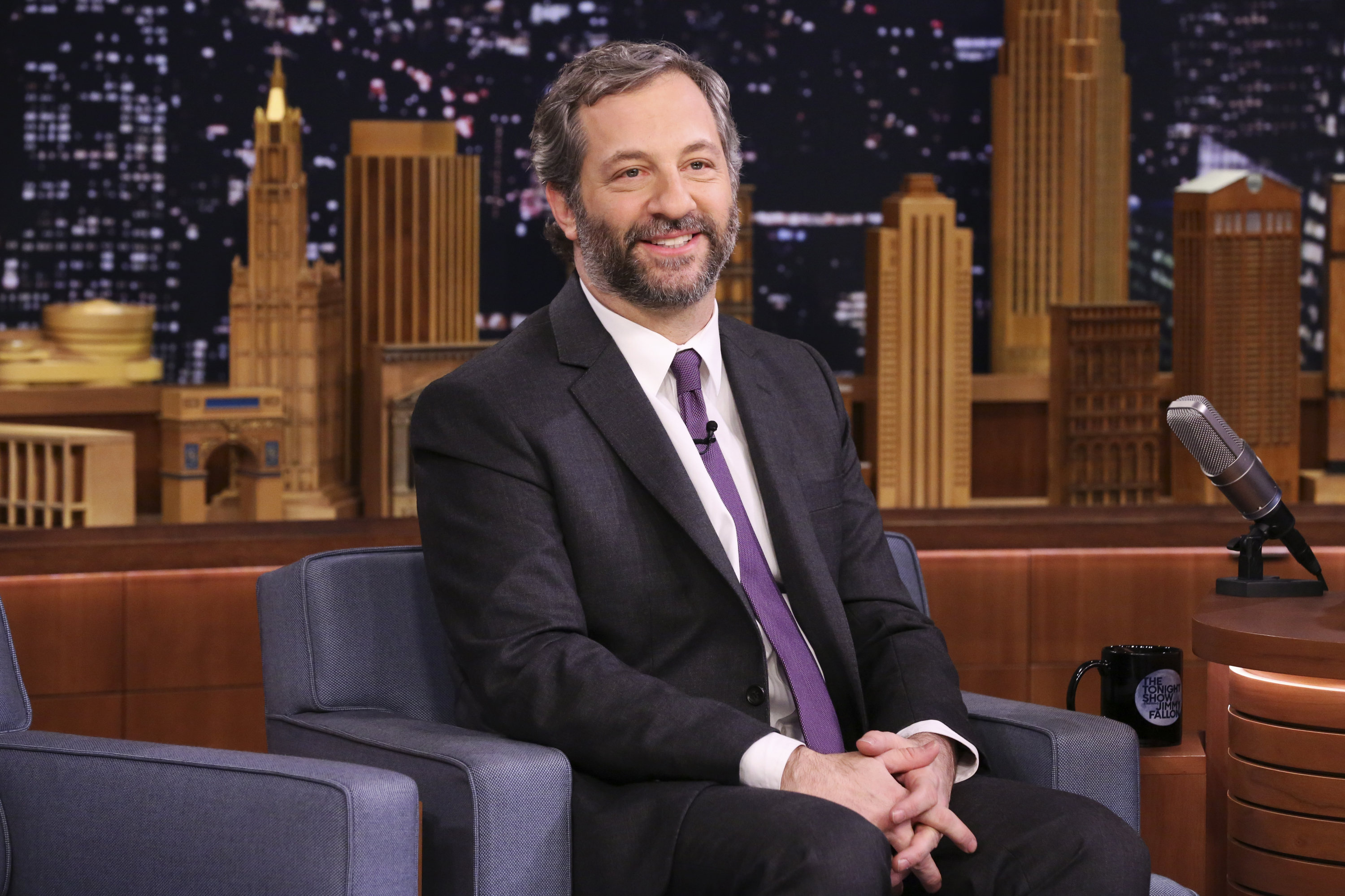 THE TONIGHT SHOW STARRING JIMMY FALLON -- Episode 0615 -- Pictured: Producer Judd Apatow during an interview on February 1, 2017 -- (Photo by: Andrew Lipovsky/NBC/NBCU Photo Bank via Getty Images)