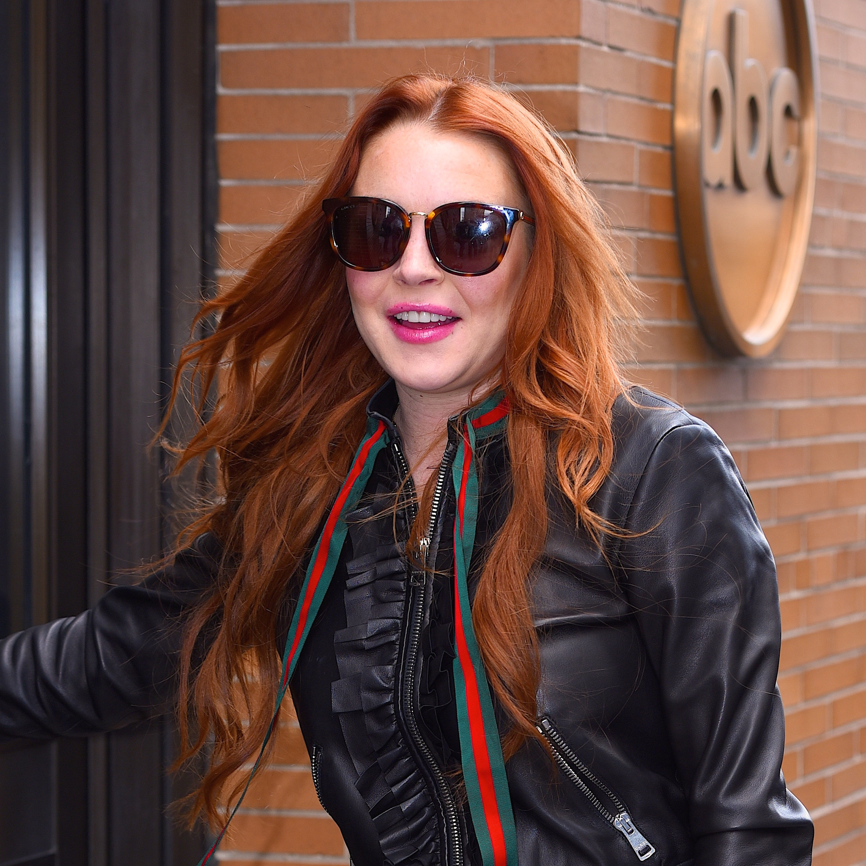 Lindsay Lohan seen out in Manhattan on  February 13, 2017 in New York City.