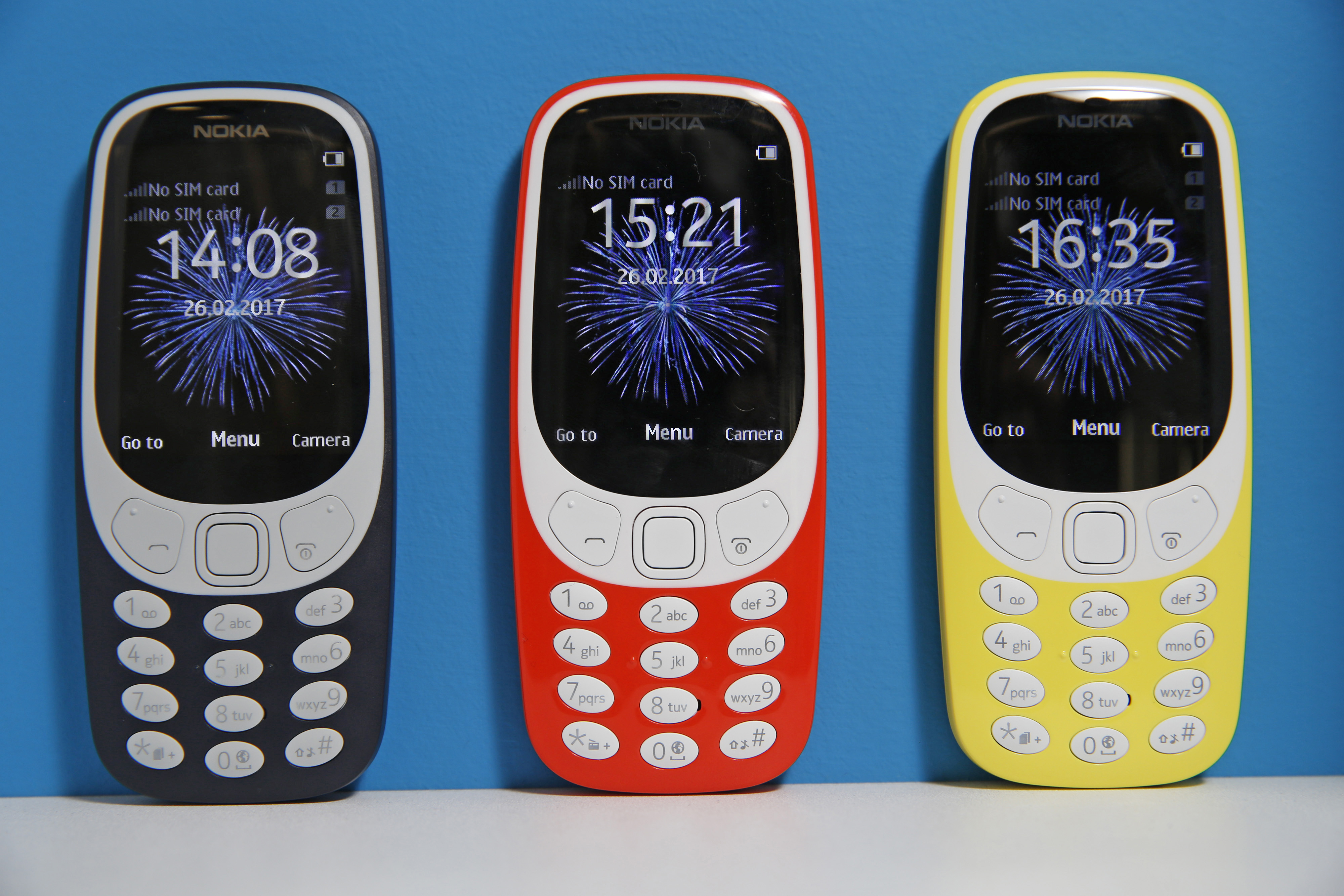 The new Nokia 3310 mobile phone, developed by HMD Global OY, on display during in London, on Feb. 24, 2017.